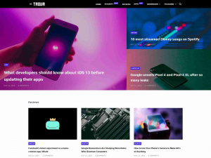 Top Magazine, News Blogger Template