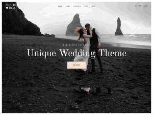 Best WordPress Wedding Themes - Premium  with RSVP, Countdown and Catering Features