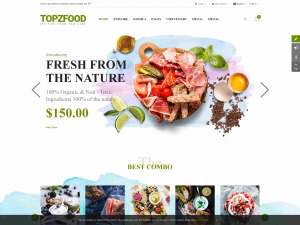 Best Premium Food, Vegetable Shop Joomla Themes