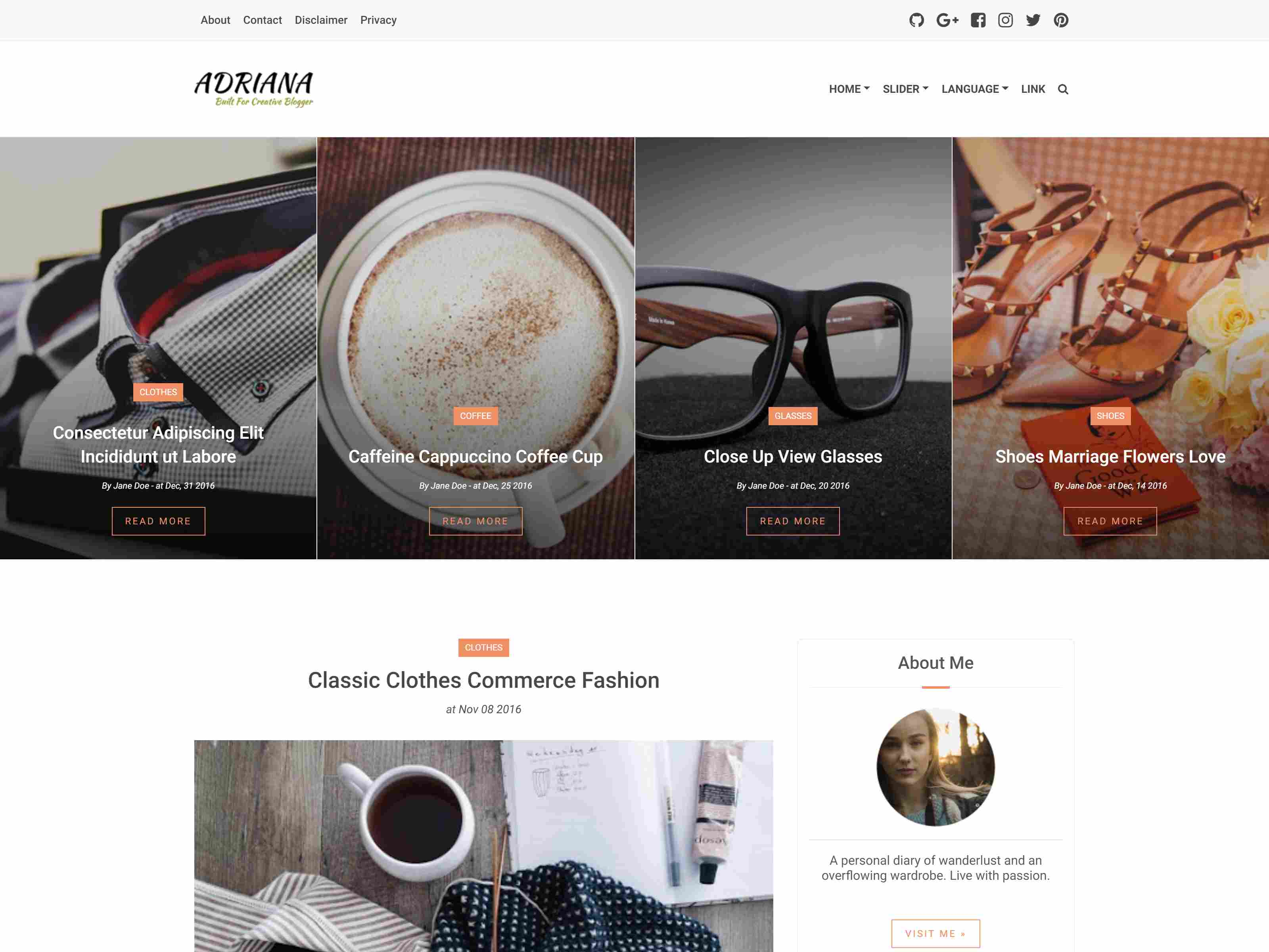 Adriana - An Elegant Responsive Blogger Theme News Blogger Template