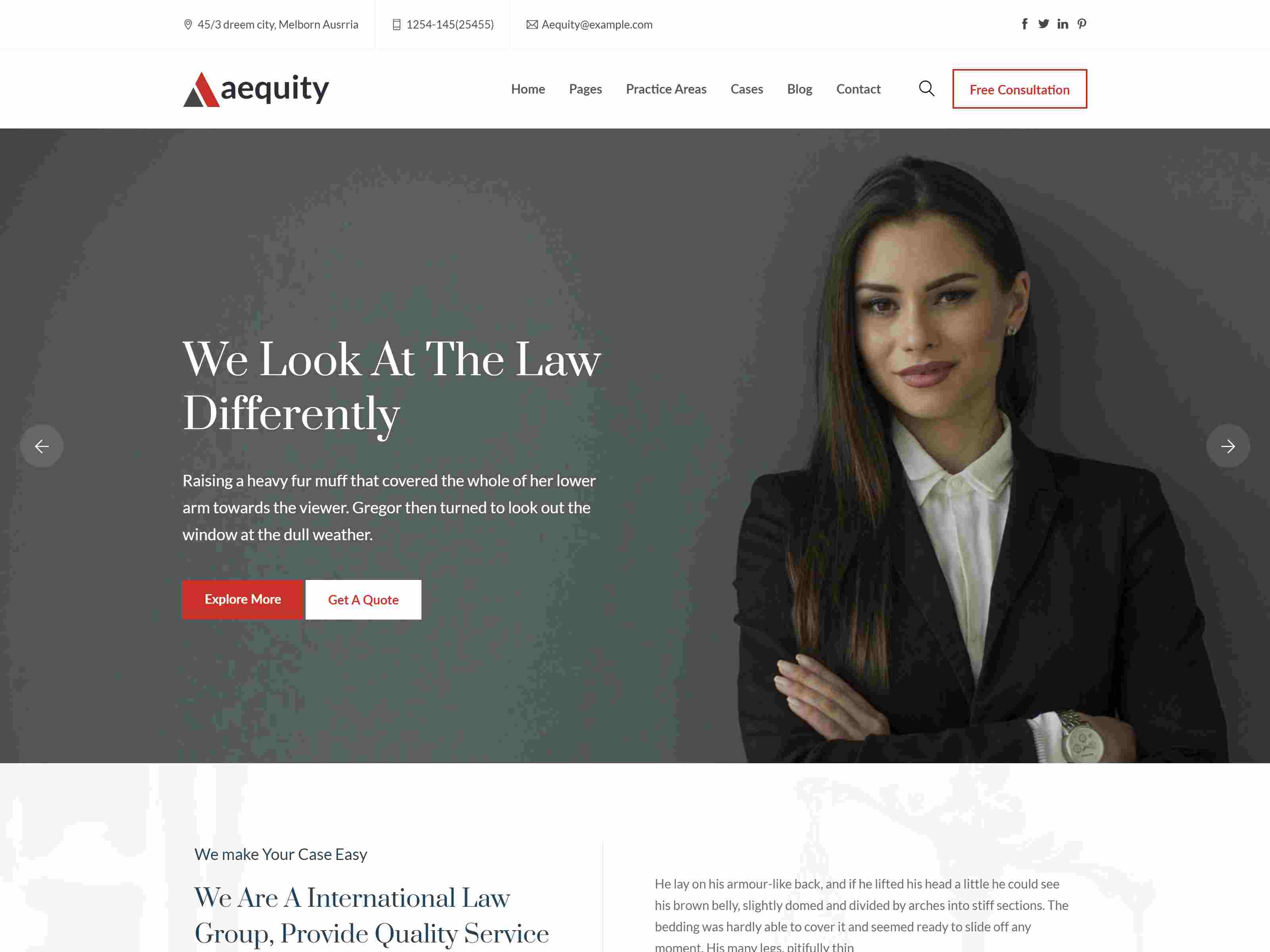 Aequity - Law WordPress Theme