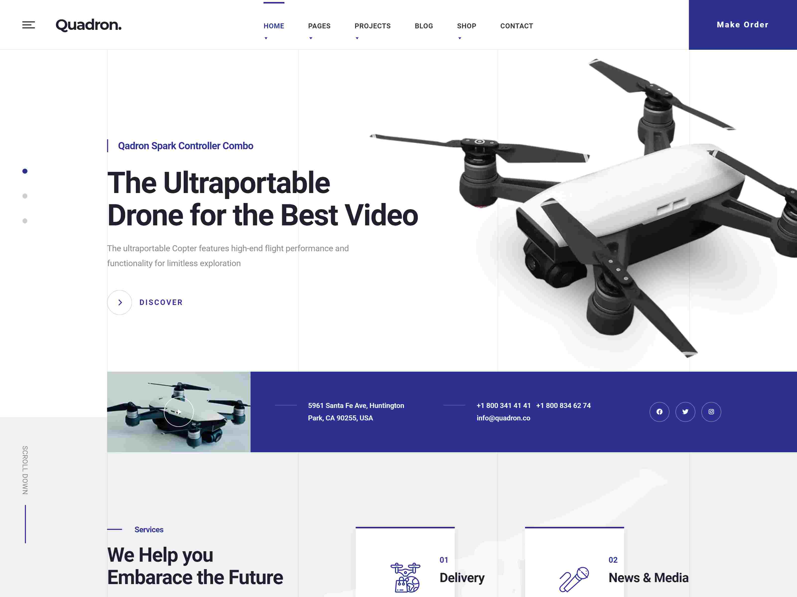 Best Premium WordPress WooCommerce Themes for Drone and UAV - Theme Daddy