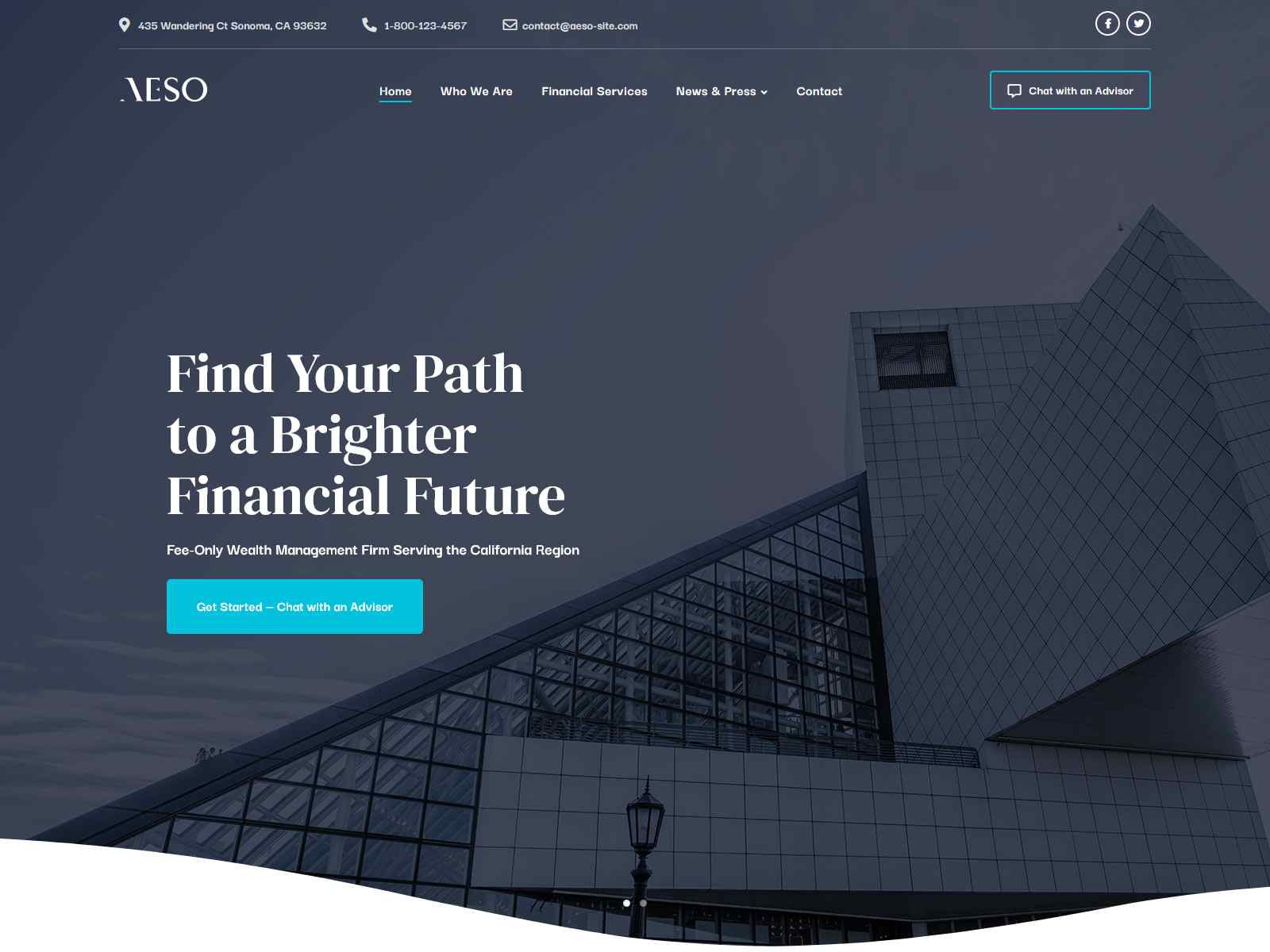 Aeso - Financial Advisor Theme