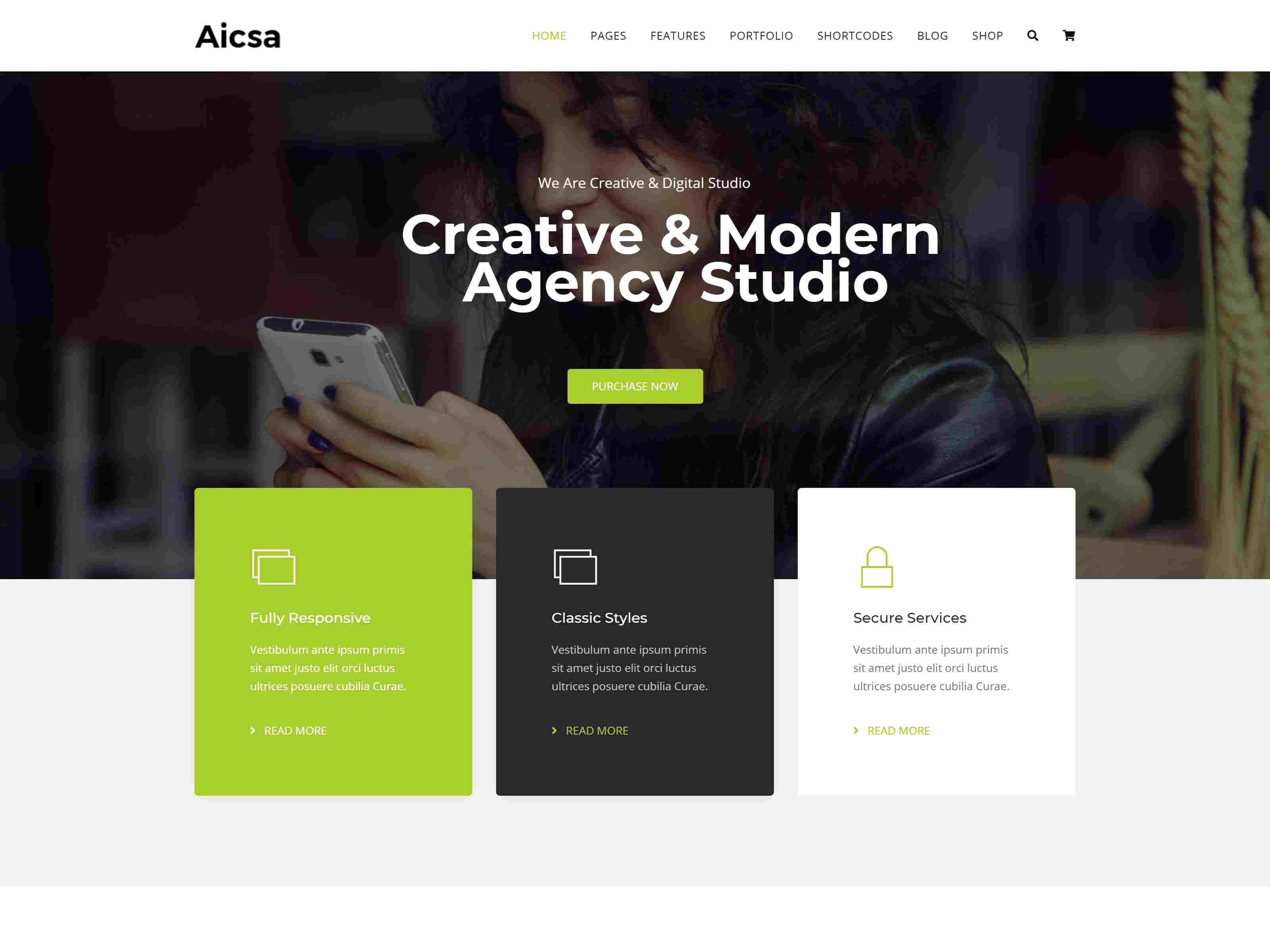 Aicsa - Responsive Multipurpose Joomla Website Template