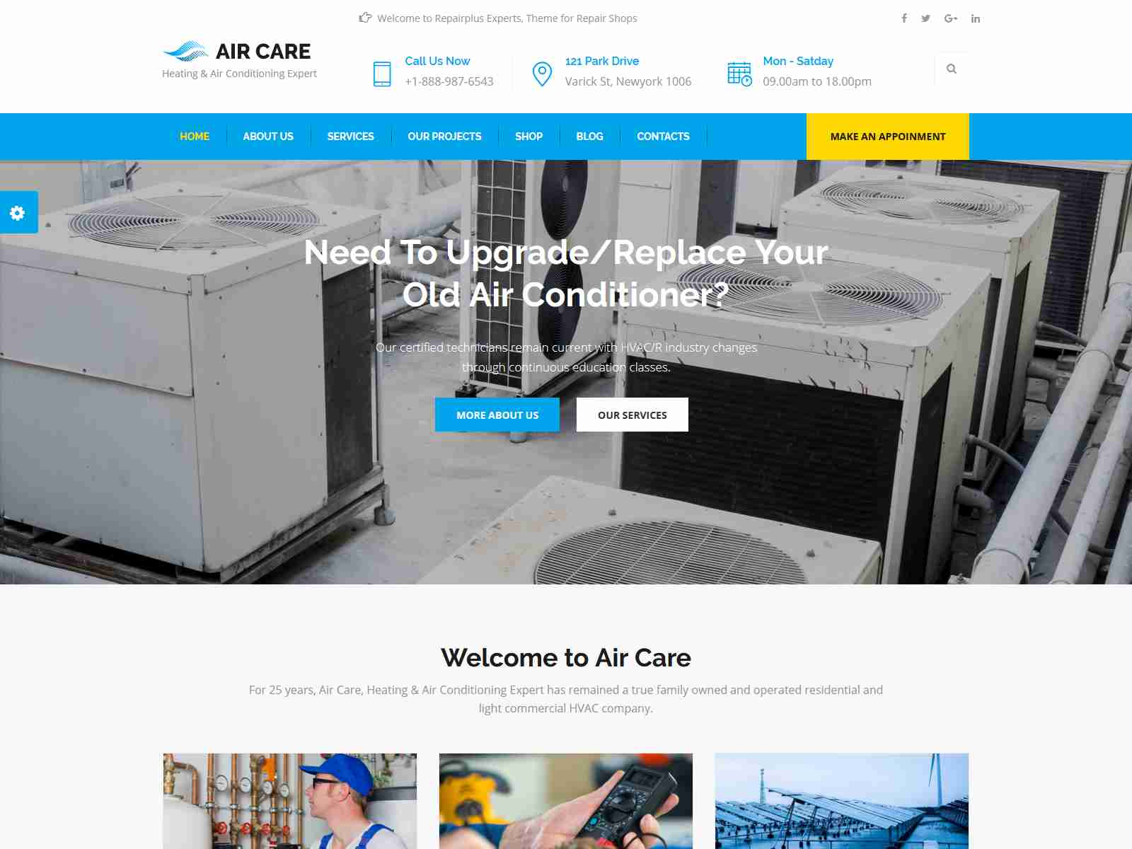 Best Premium AirCondition Joomla Themes