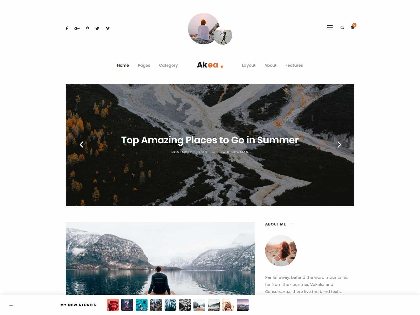 Akea - Blog wordpress news themes
