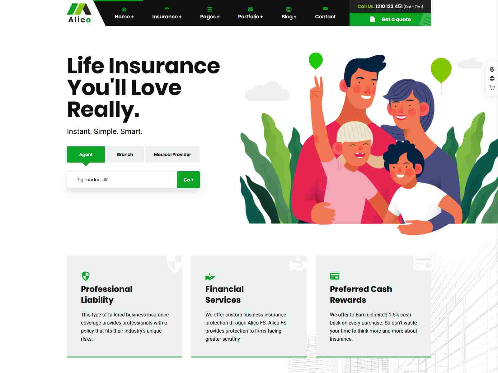 Alico - Insurance Agency WordPress Theme Insurance Company WordPress Themes