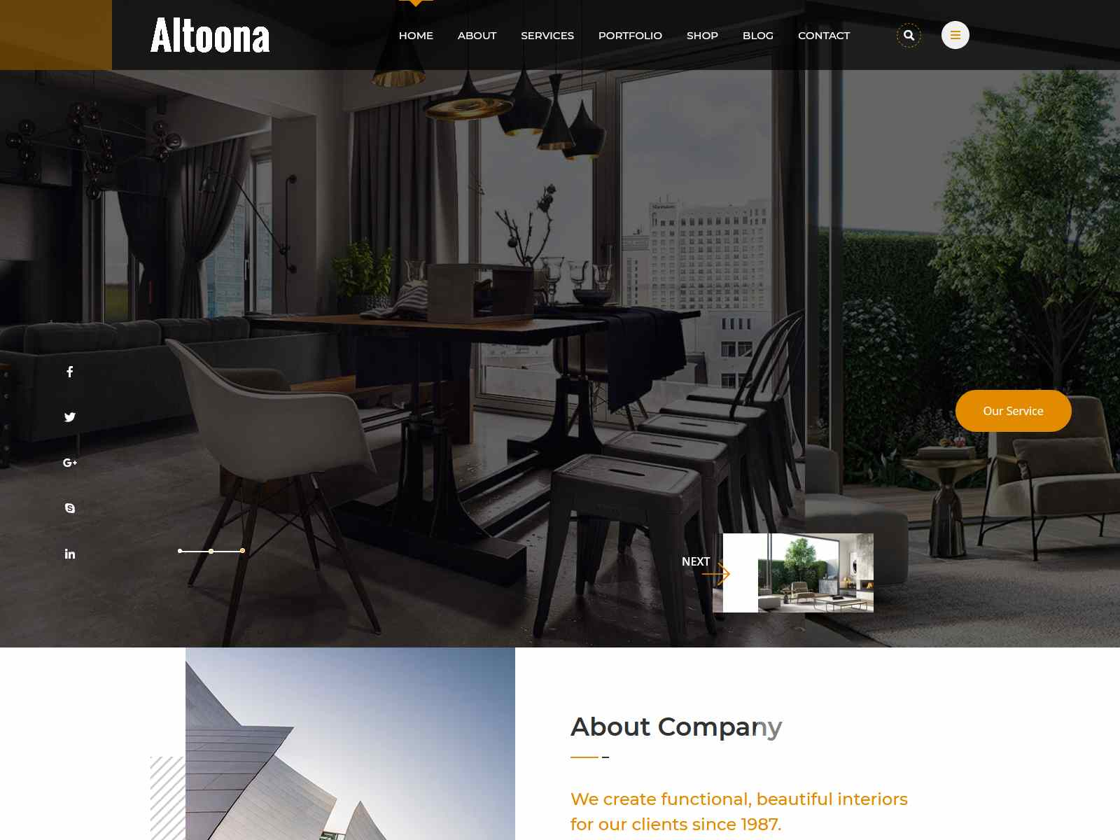 Altoona - Architecture WordPress Theme architecture wordpress themes, real estate wordpress theme