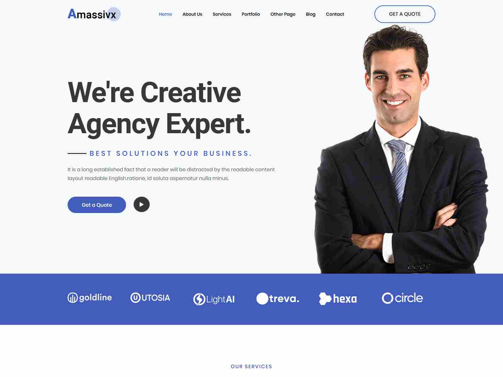 Amassivx – Multipurpose Business WordPress Theme