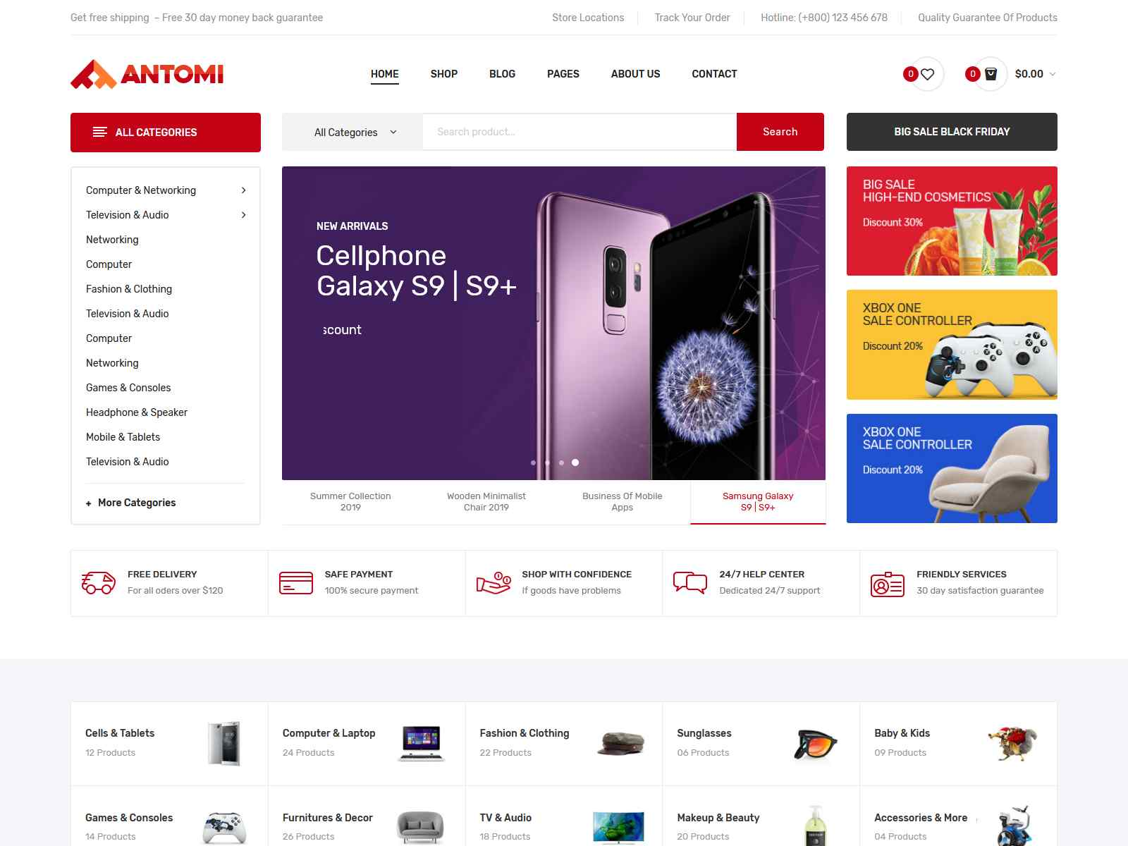 Antomi - Multipurpose Theme for WooCommerce WordPress