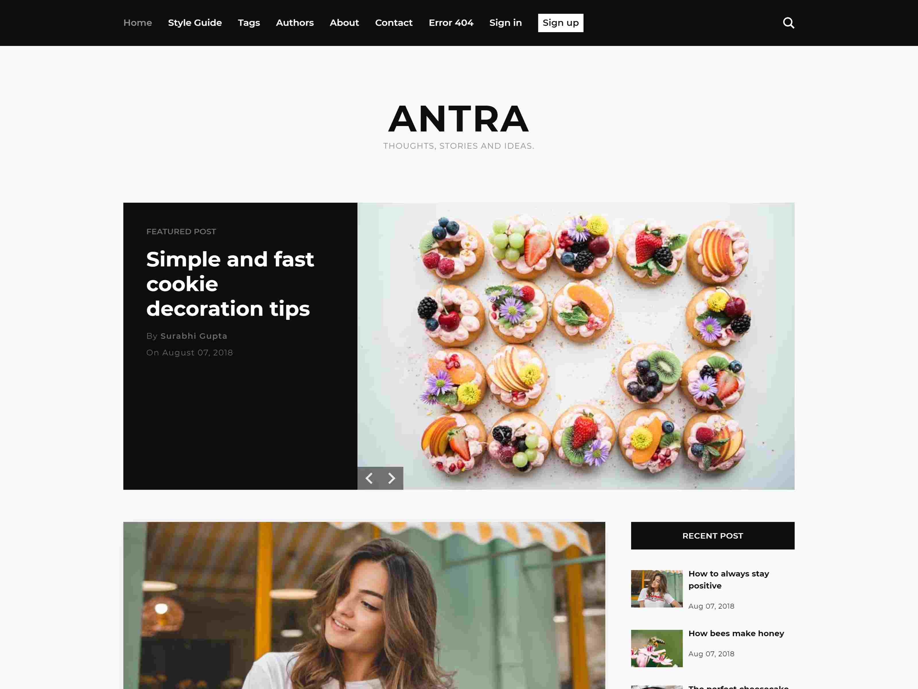 Antra - Minimal Content Focused Ghost Blog Theme ghost themes