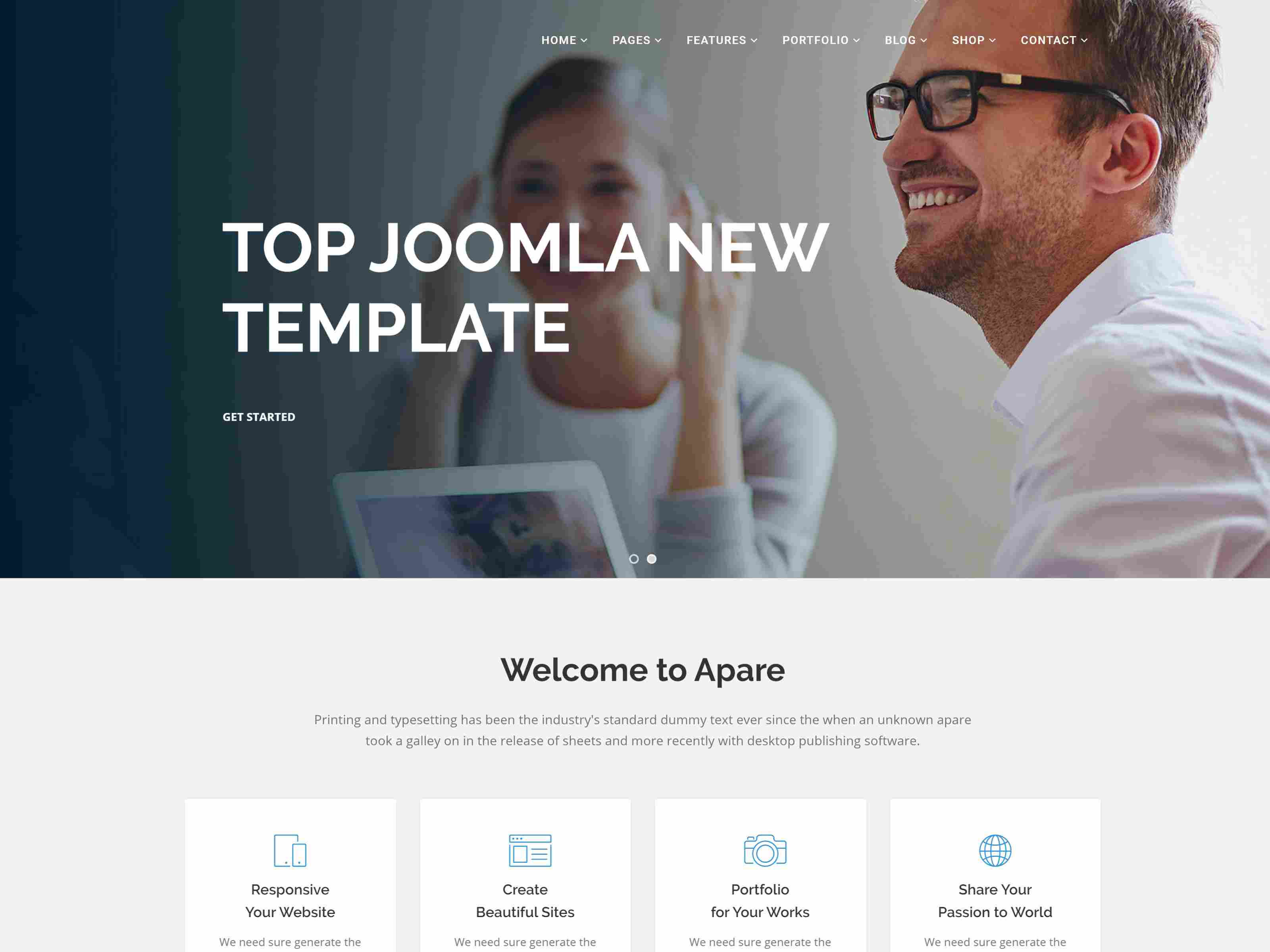 Apare - Responsive Multipurpose Joomla Website Template With Page Builder
