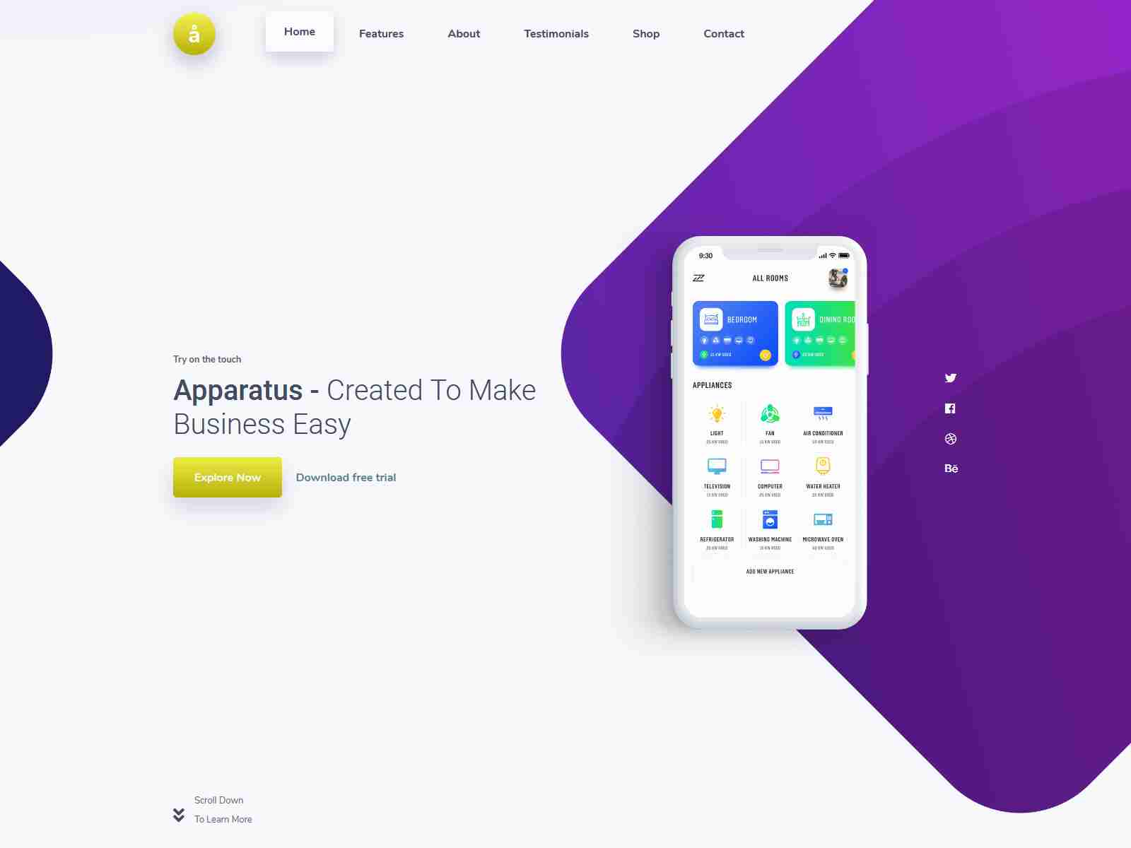 Apparatus | A Multi-Purpose One-Page Portfolio and App Landing Theme software themes, mobile app wordpress themes