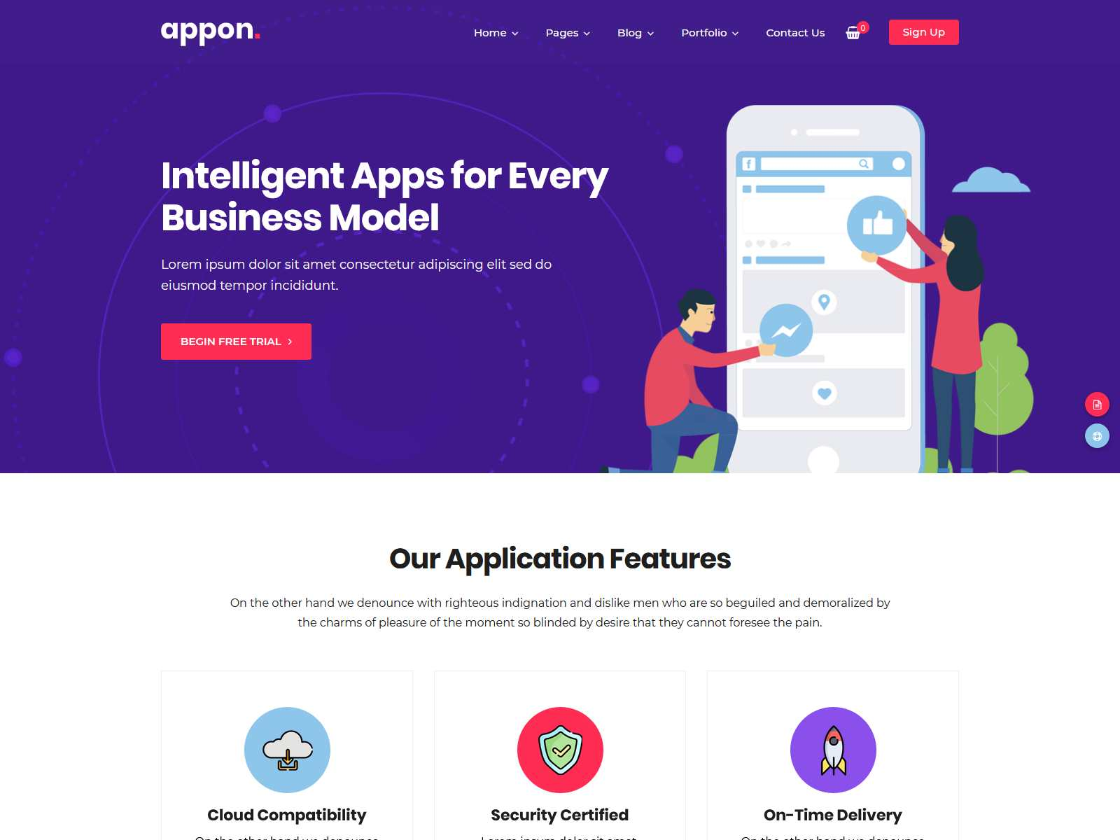 Appon - App & SaaS Software Theme software themes, mobile app wordpress themes