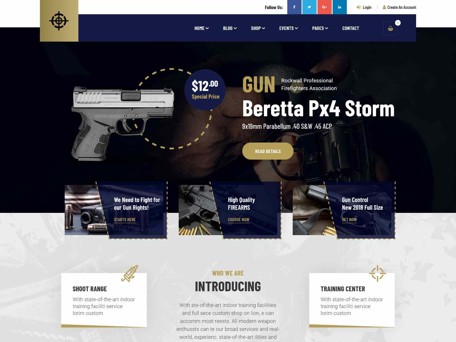 Best Premium Gun WordPress Themes
