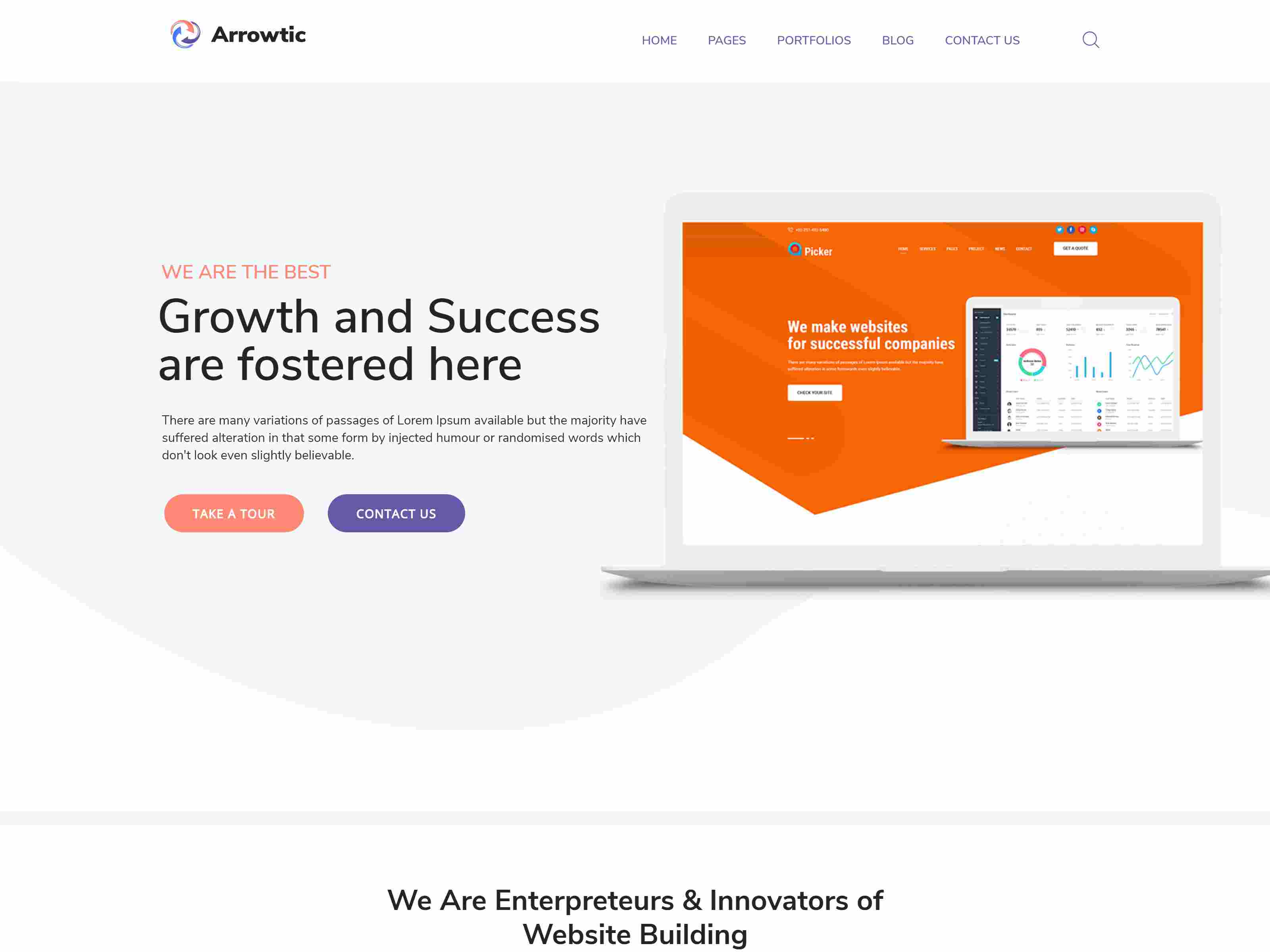 Arrowtic - Digital Marketing Agency WordPress Theme