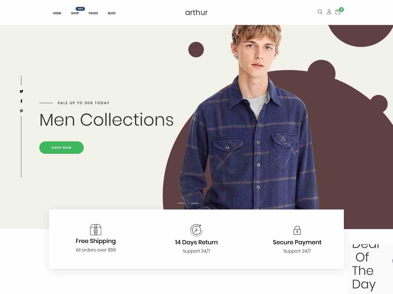 Arthur - Minimal, Clean & Beautiful Shopify Theme