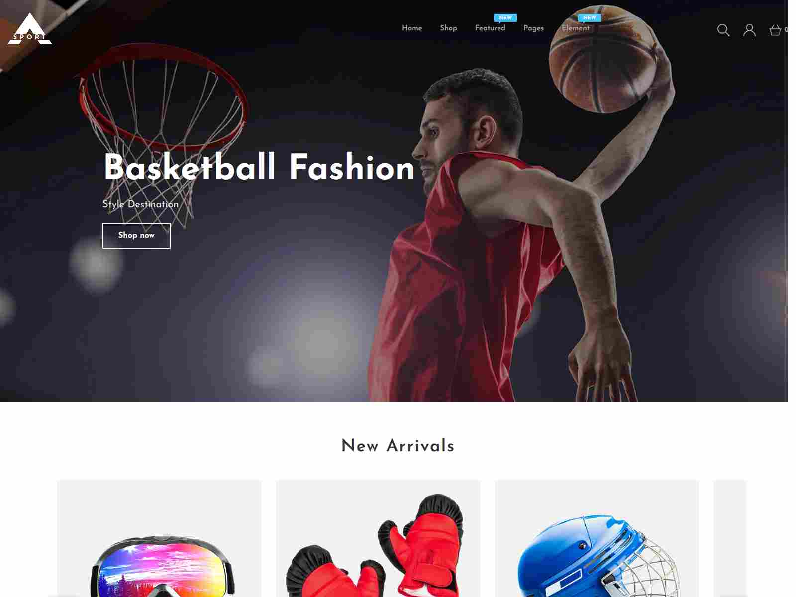 Asport - Sports Wear & Accessories Responsive Shopify Theme