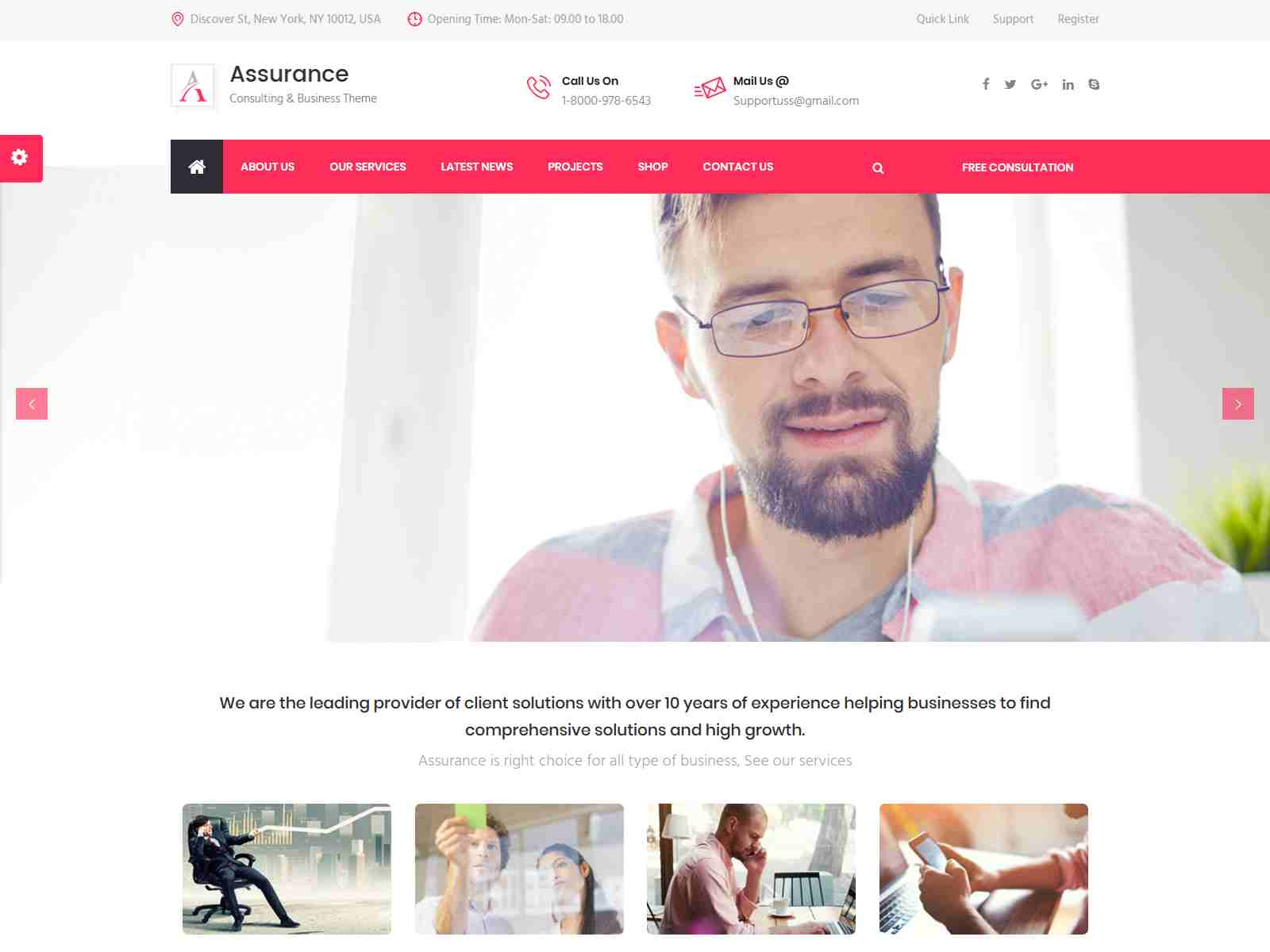 Assurance - Business Consulting and Professional Services Joomla Template Insurance Company WordPress Themes