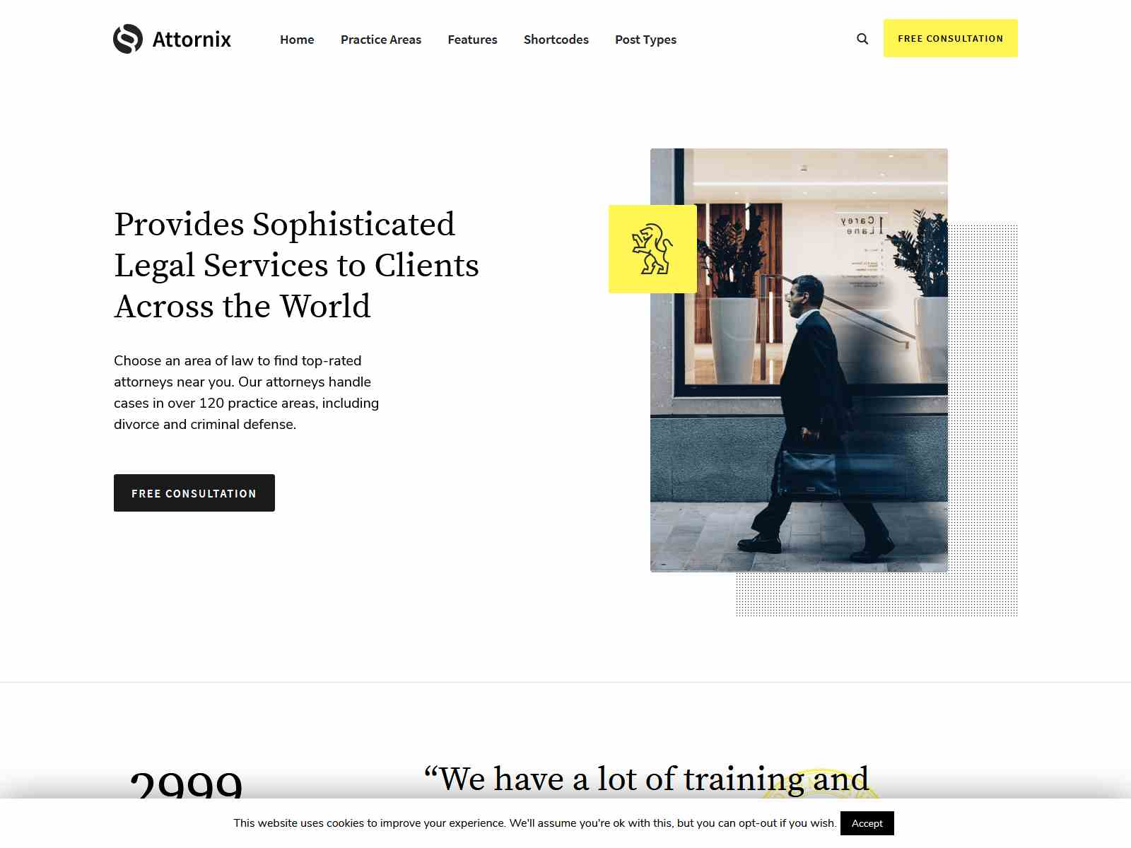 Attornix - Lawyer WordPress Theme Consulting Firms WordPress Themes