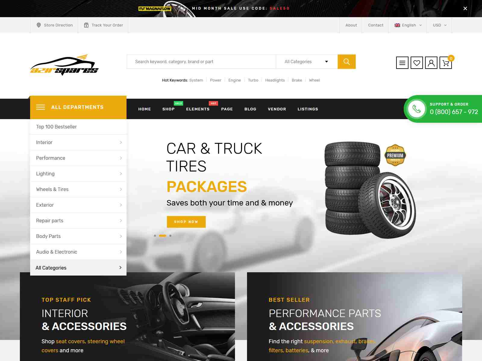Azirspares - Auto Part & Car Listing WordPress Theme (RTL supported)