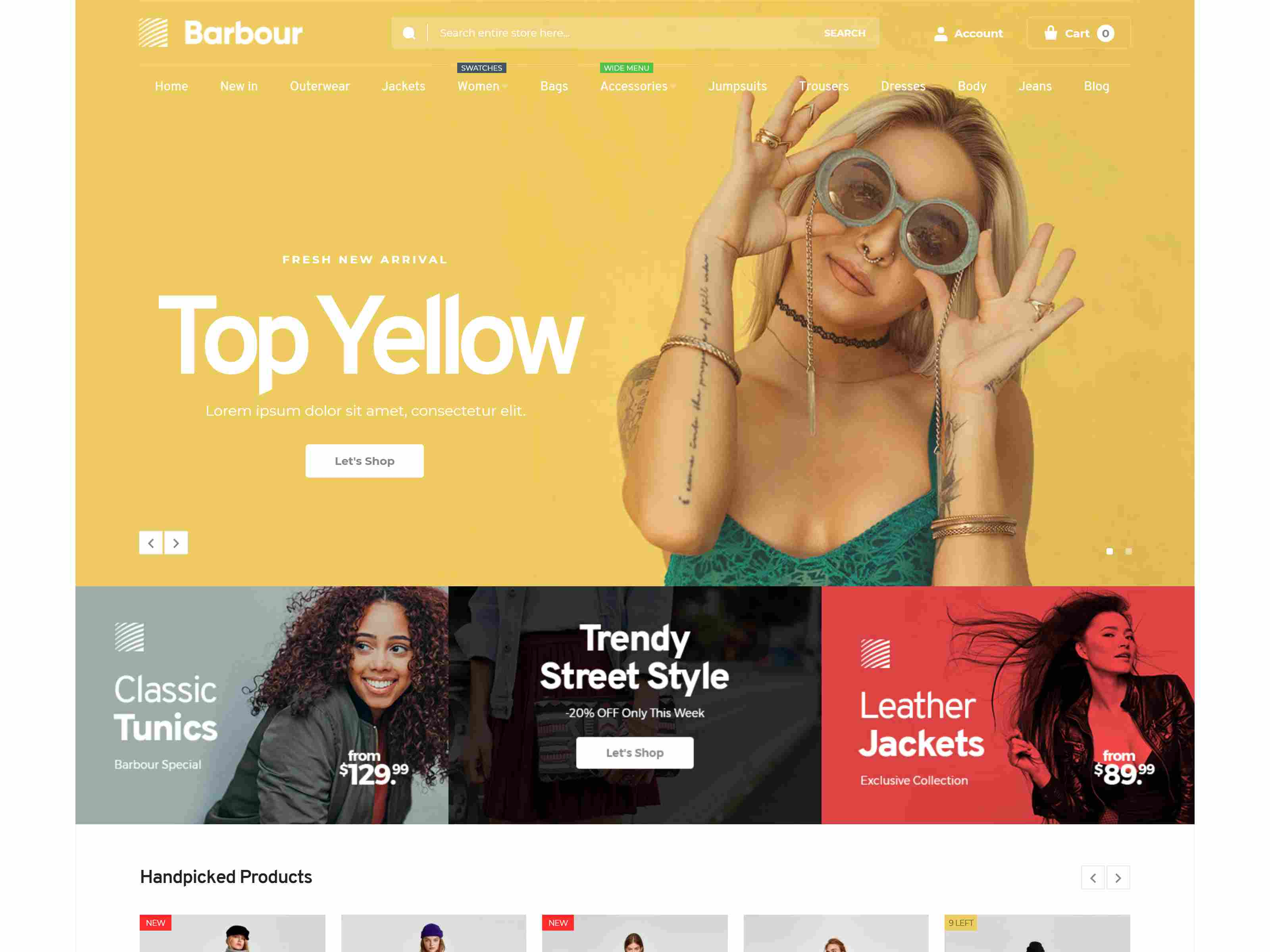 Barbour - Multi-Purpose Responsive Magento 2 Theme