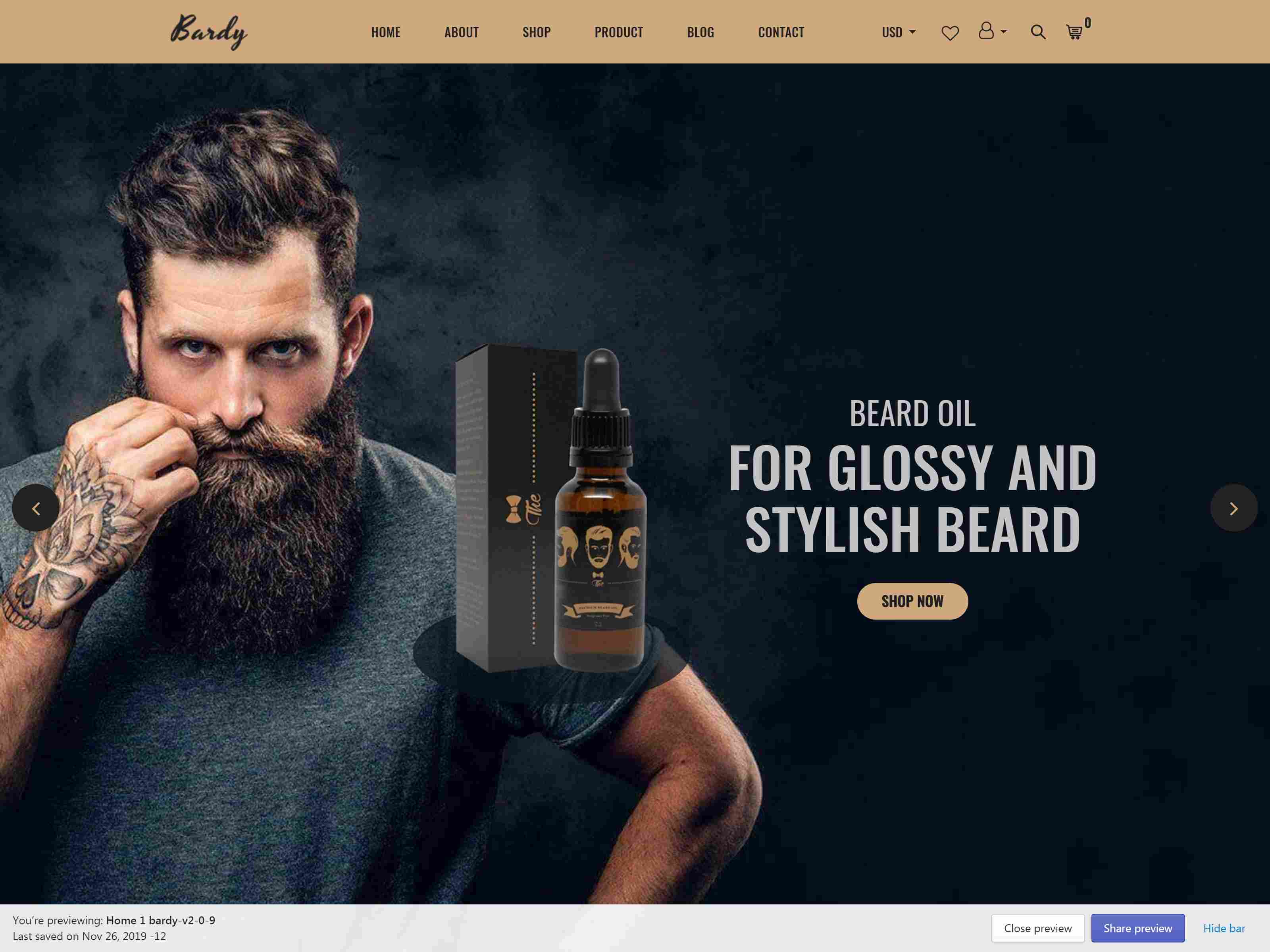 Best Premium beared oil Shopify Themes