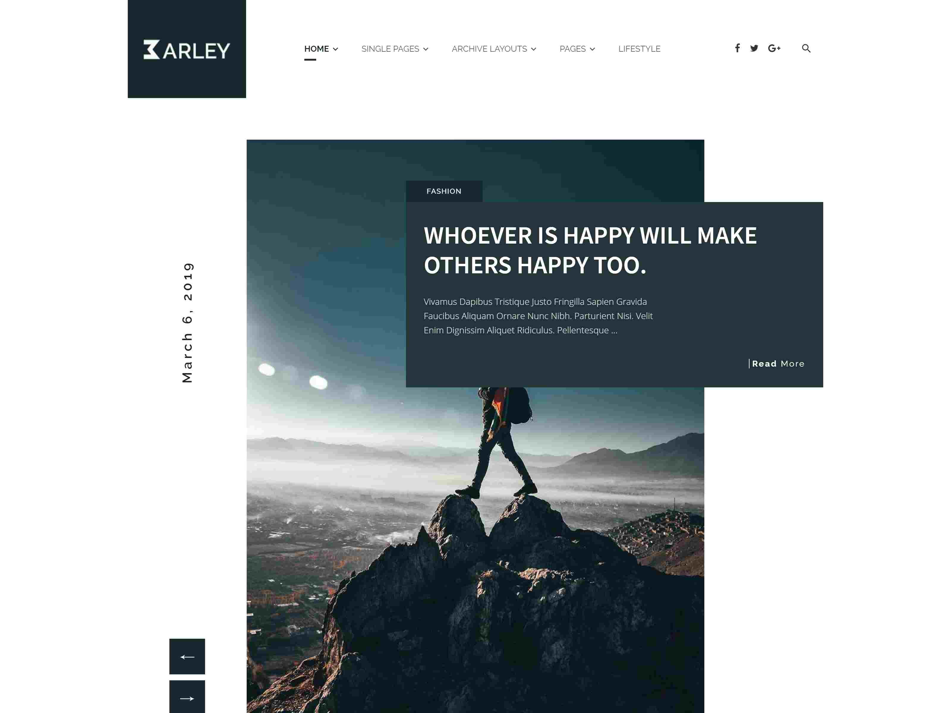 Barley - Creative Personal WordPress Blog Theme