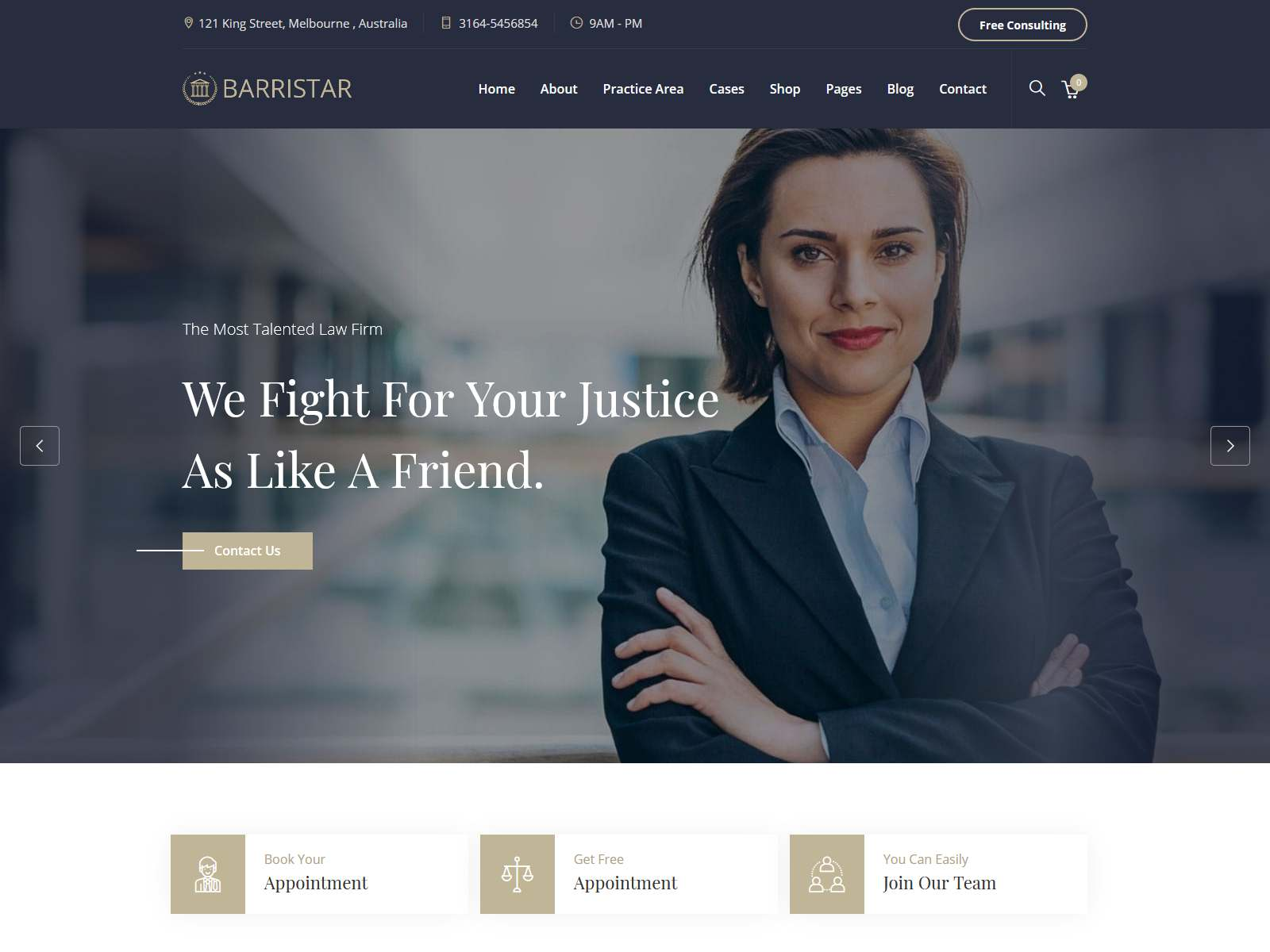 Barristar – Lawyers Attorneys and Law Firm MODX Theme
