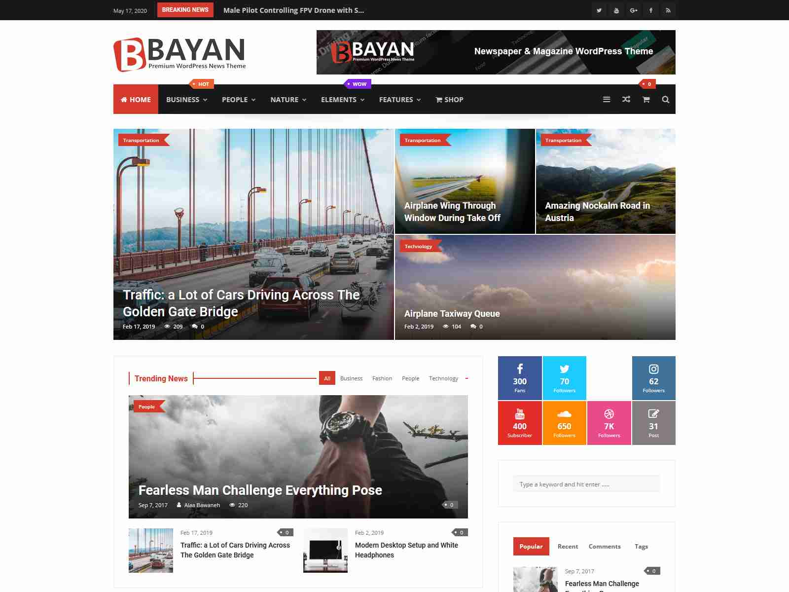 Best Premium News HTML5 Themes