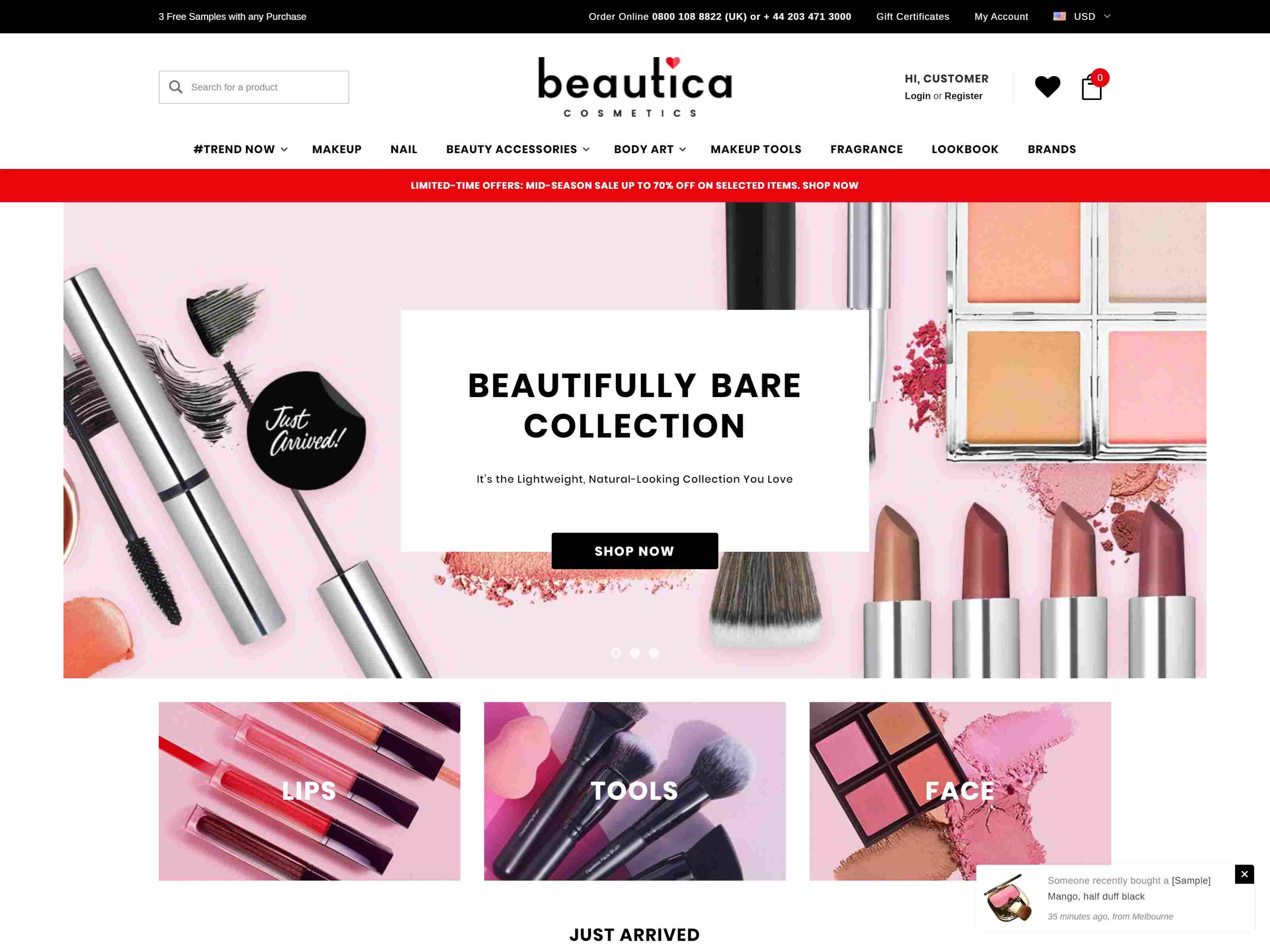 Best Premium Cosmetic BigCommerce Themes