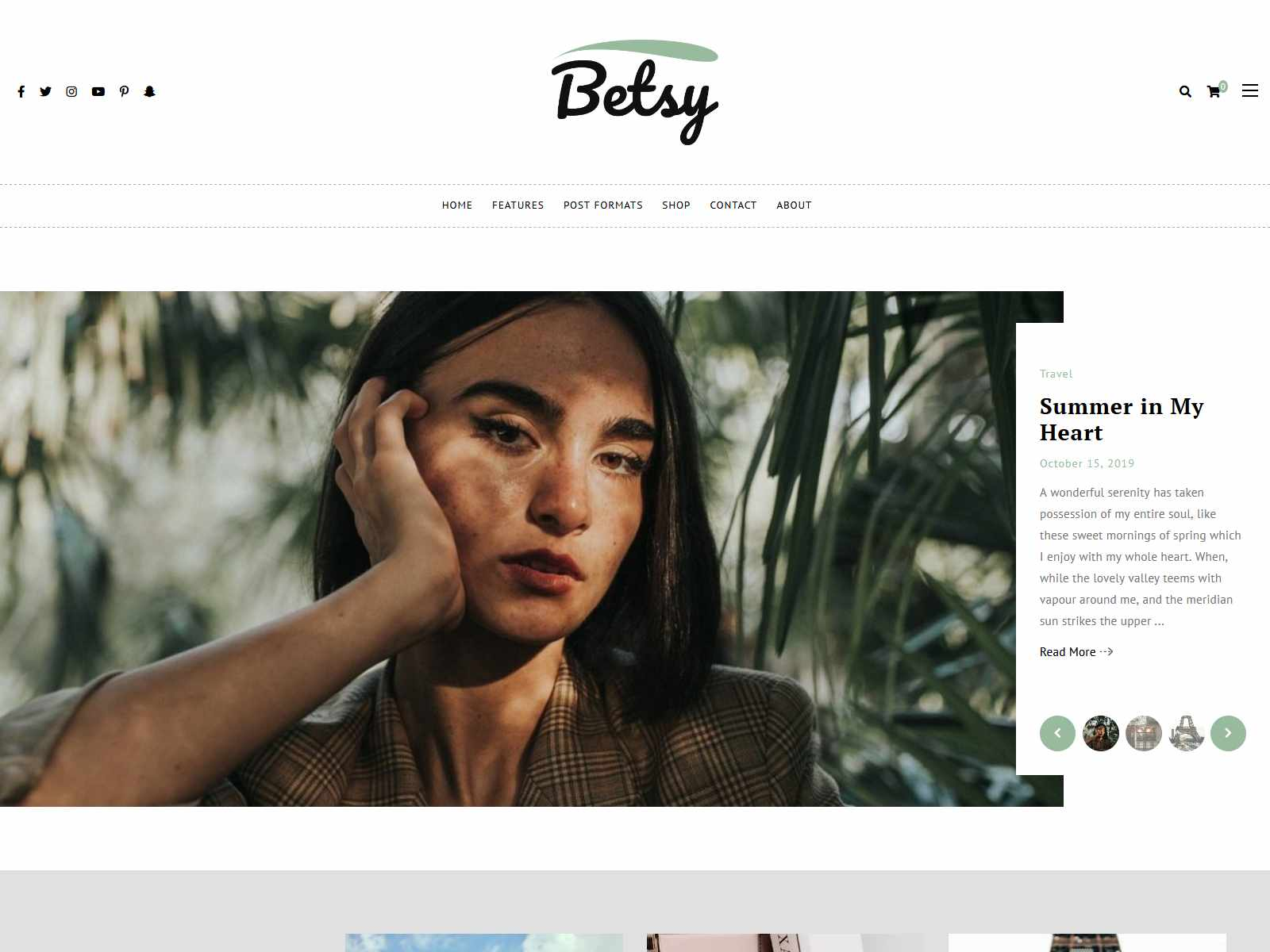 Betsy - A Clean WordPress Blog Theme