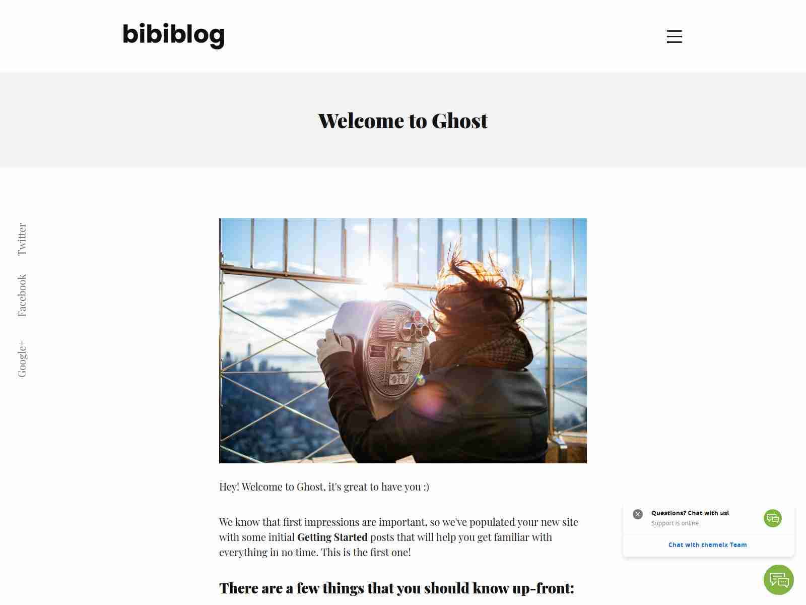Bibi - Clean and Minimal Ghost Blog Theme