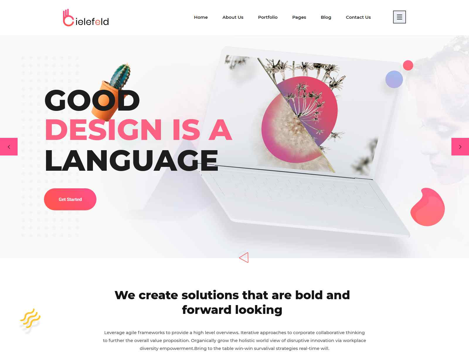 Bielefeld - Multipurpose Creative Portfolio WordPress Theme