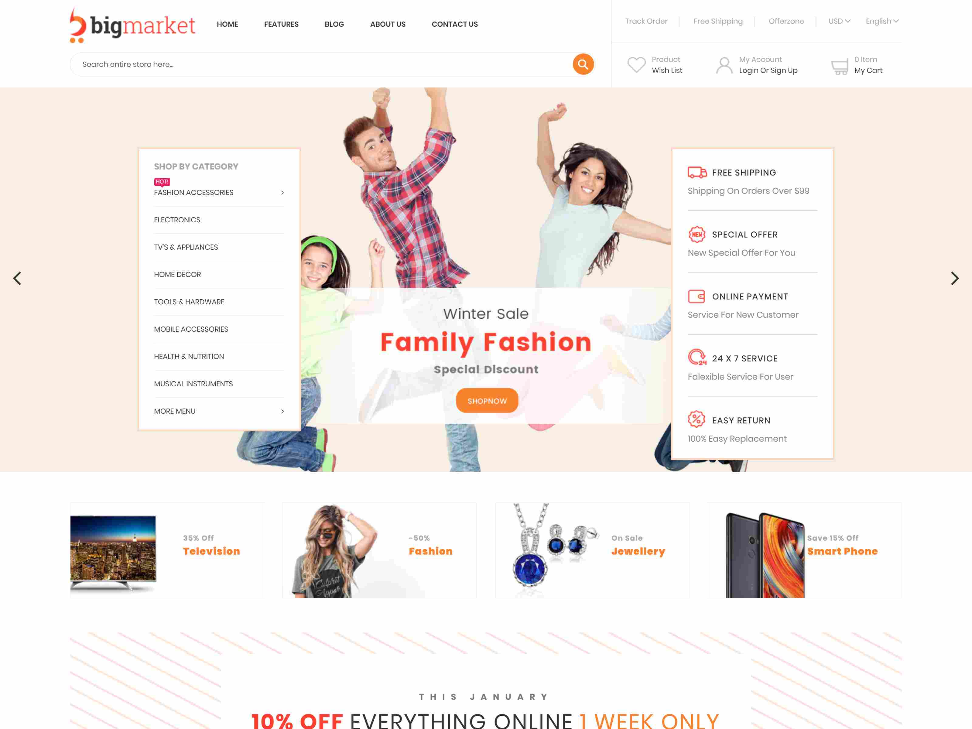 Bigmarket - Responsive Multipurpose Magento 2 Theme ( RTL Supported )