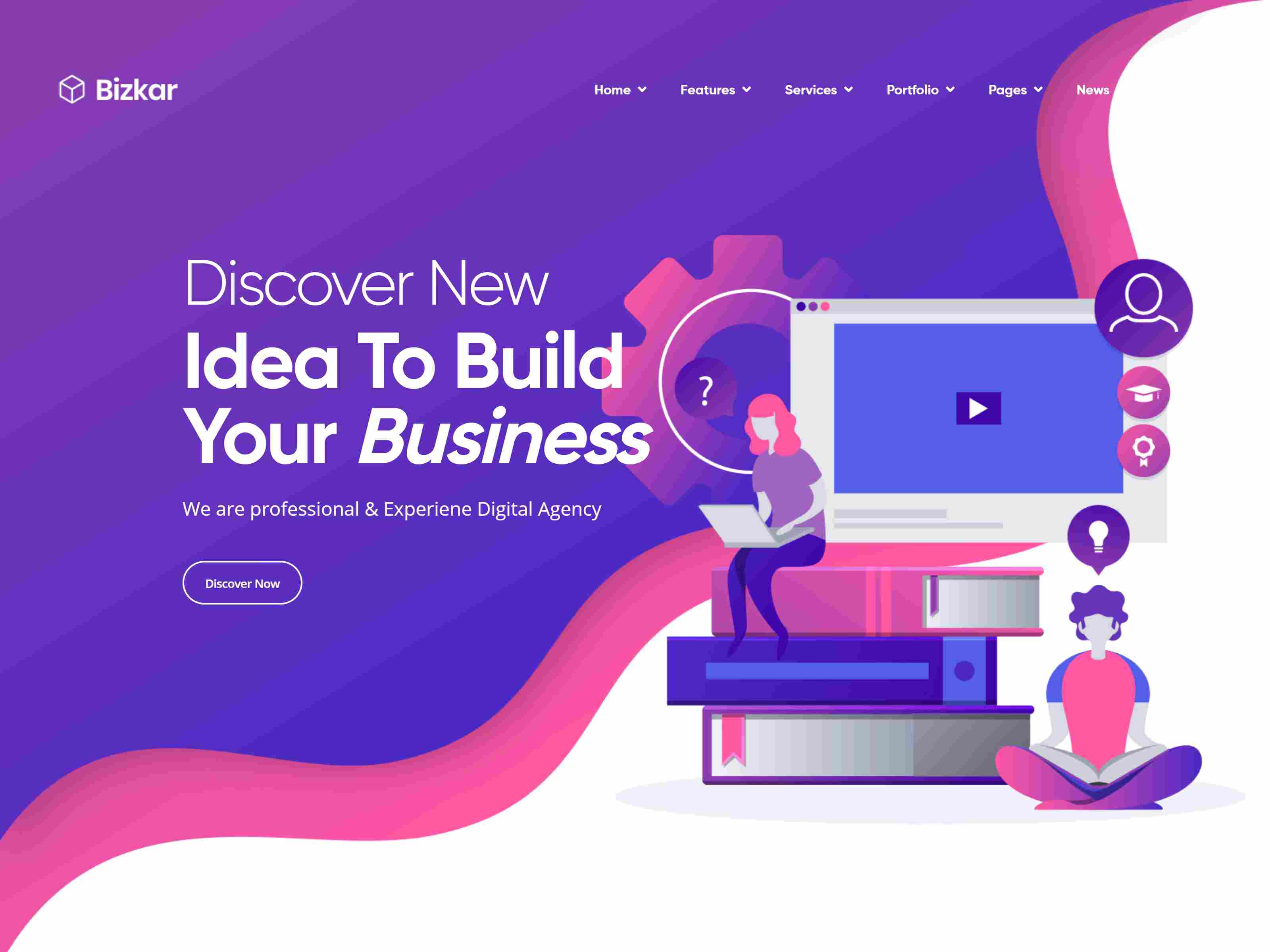 Bizkar - Creative Agency Drupal 8.8 Theme