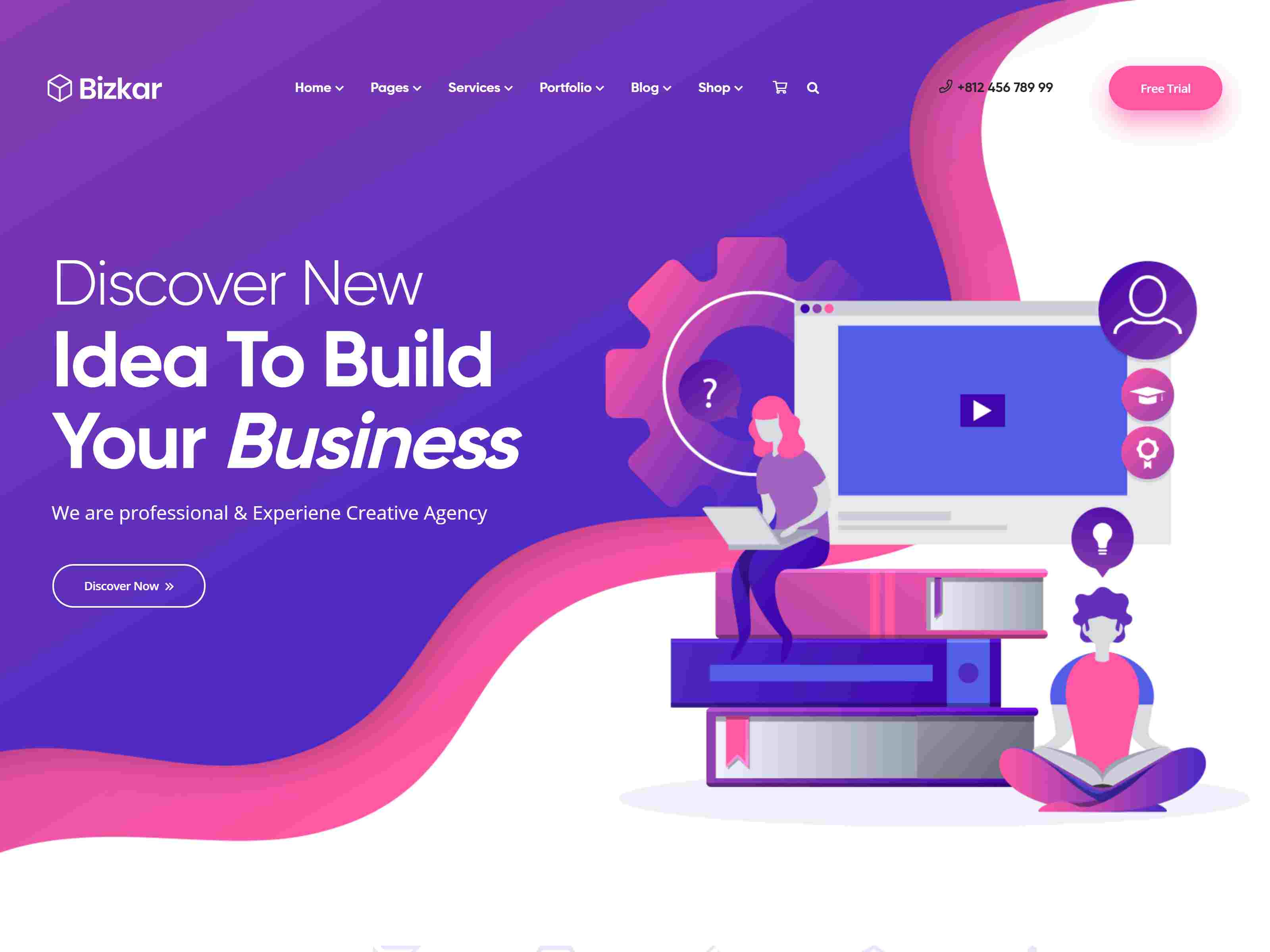 Bizkar - Creative Agency WordPress Theme