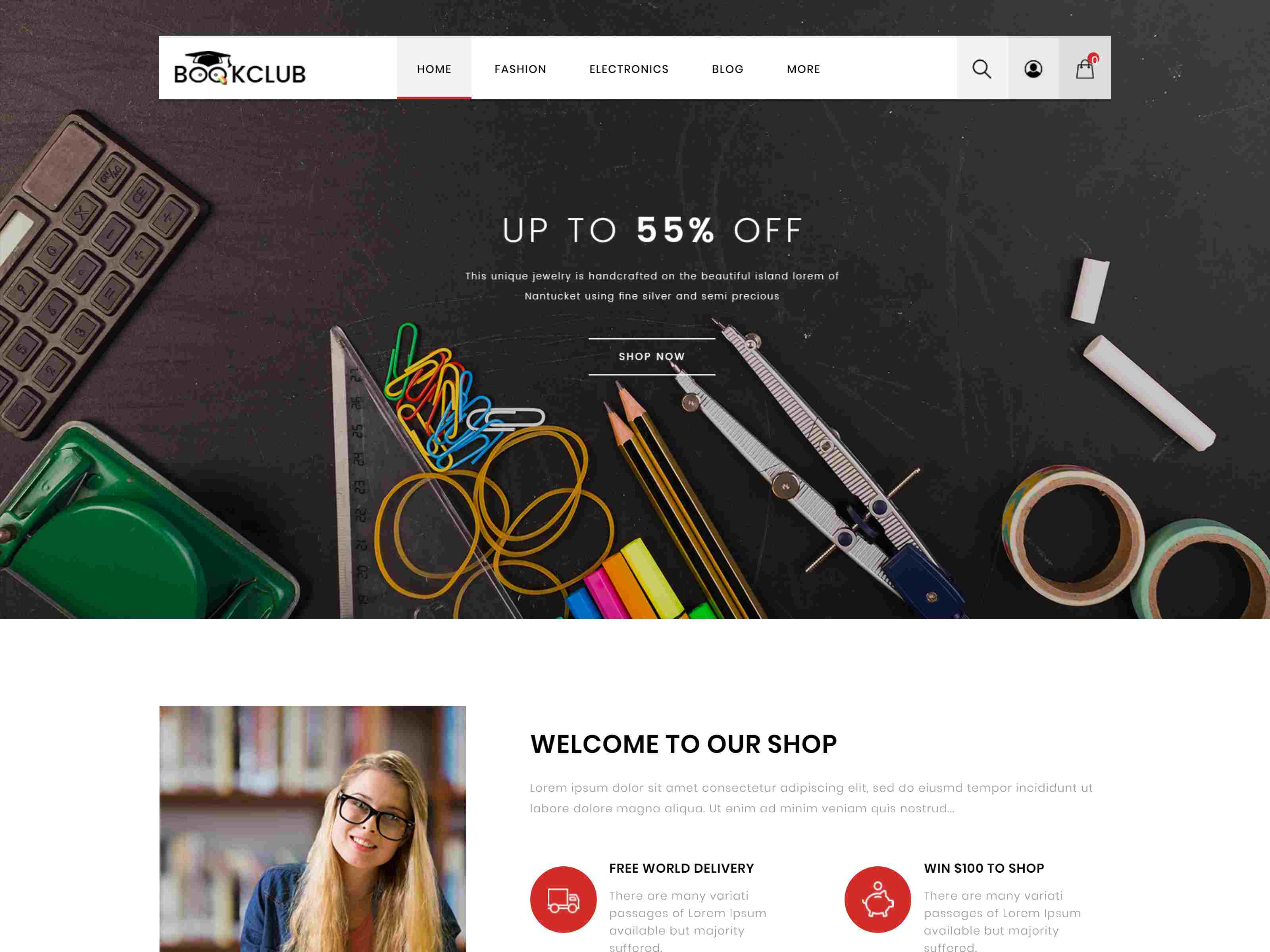 Book Club - Responsive Prestashop 1.7 Theme