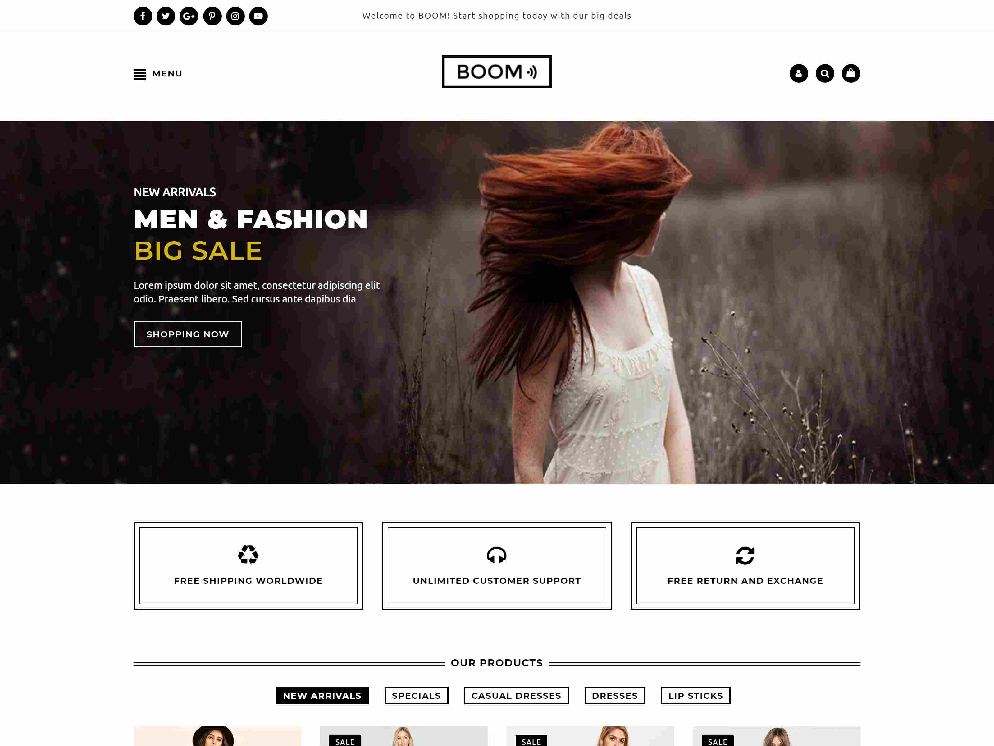 Boom - Fashion and accessories shopify theme