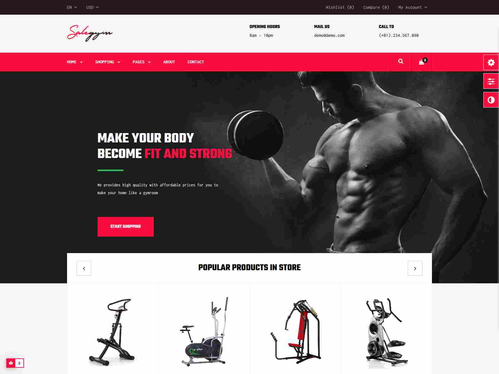 Bos Gymgear - PrestaShop Sport Theme for Fitness & Equipment