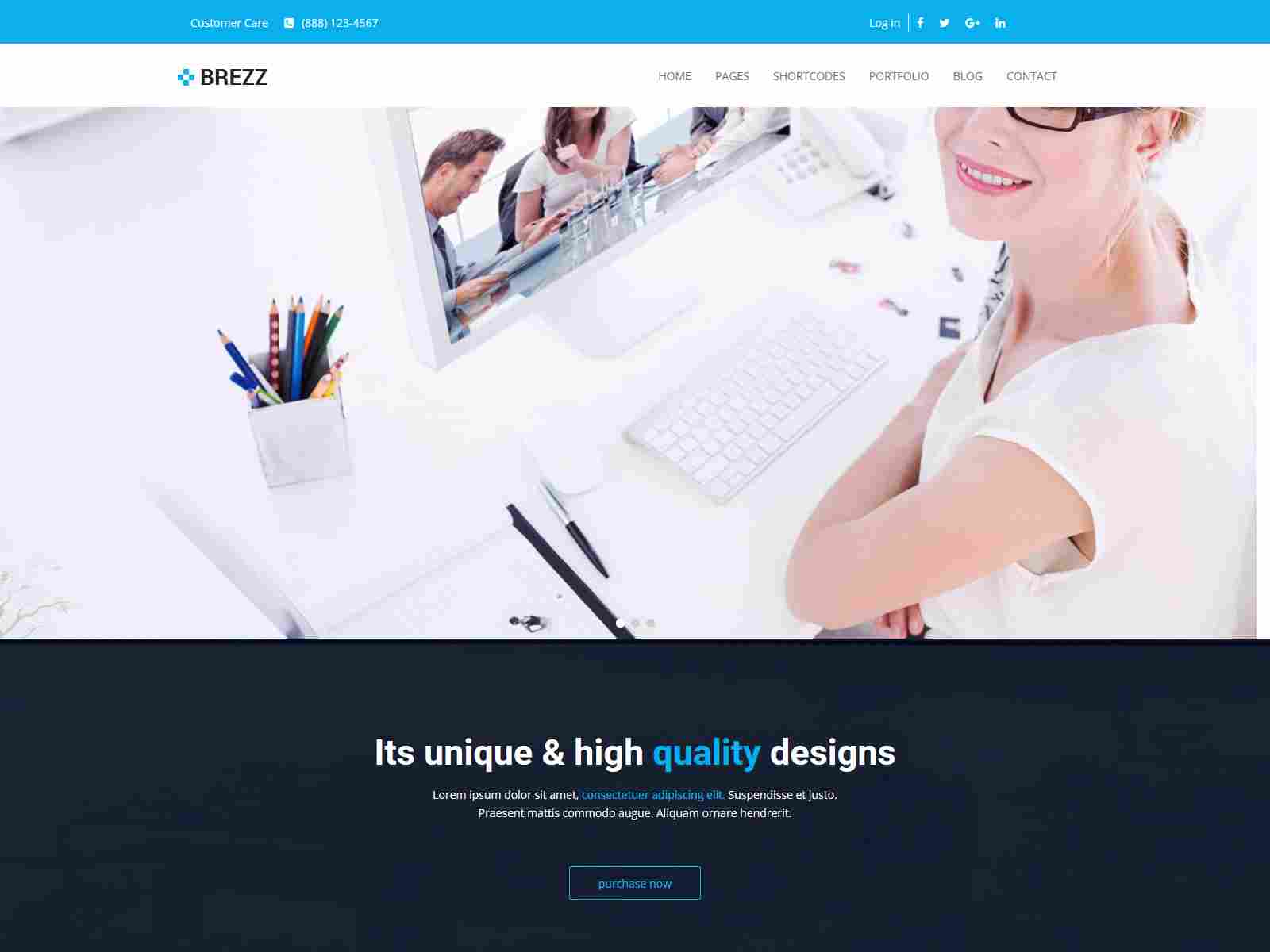 Brezz - Responsive Multi-Purpose Drupal 8.8 Theme