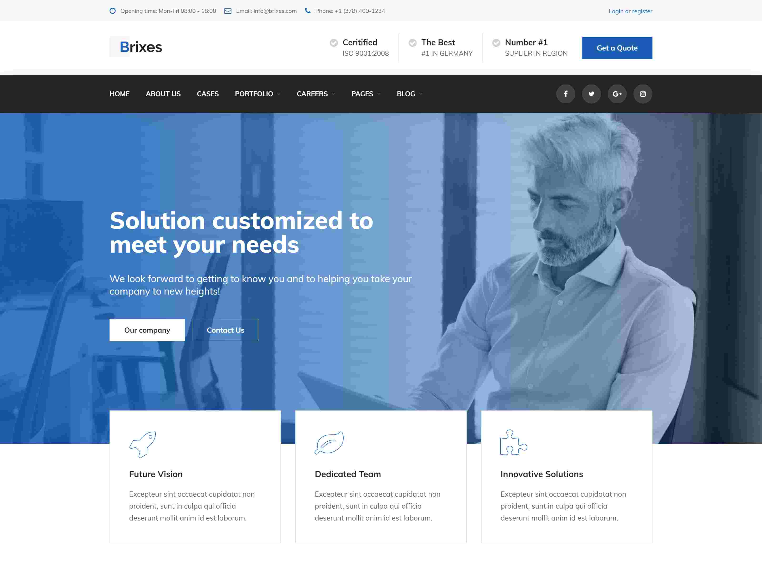 Brixes - Factory & Industry WordPress Theme
