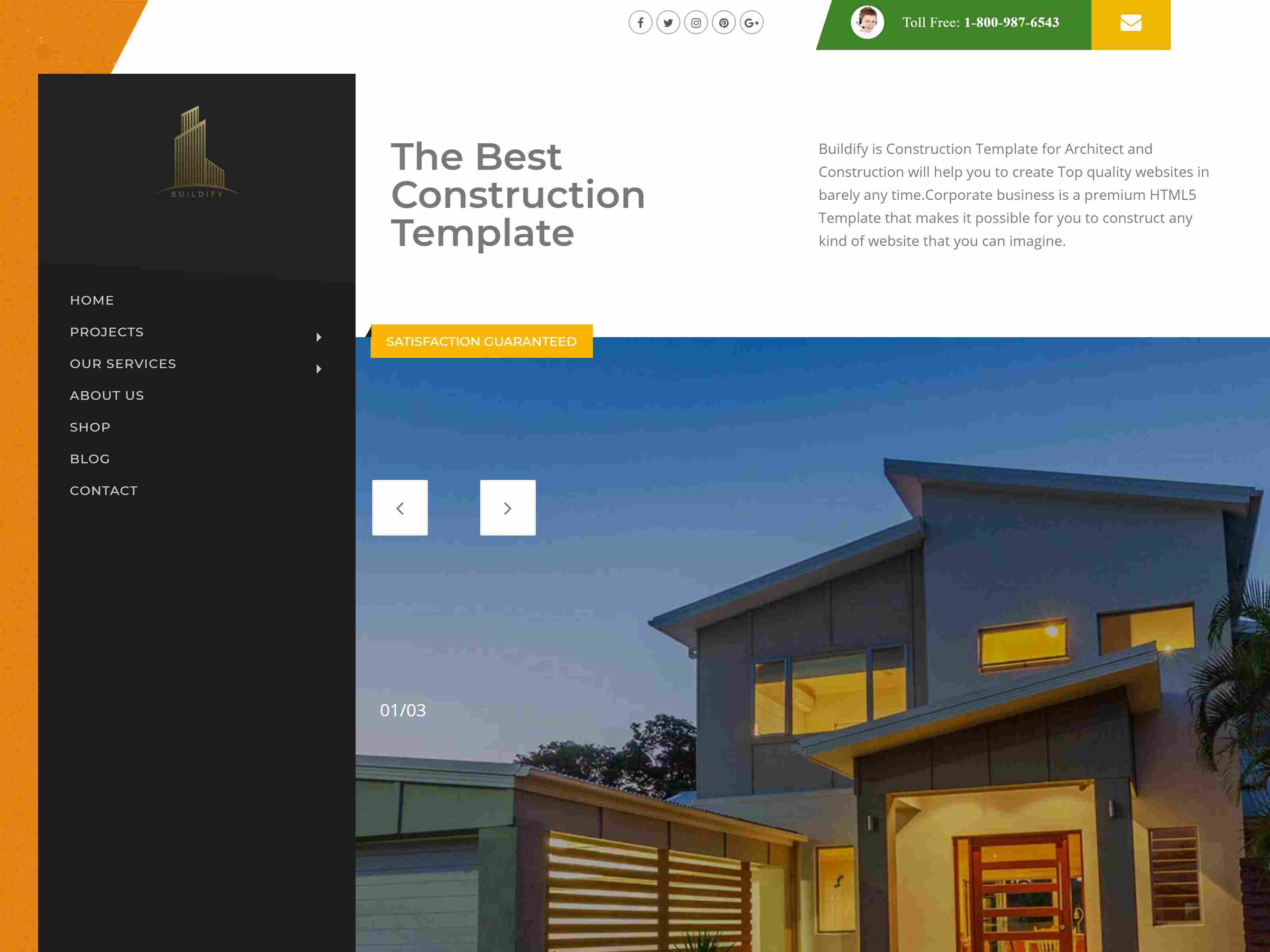 Buildify - Construction / Industry / Factory Joomla Template With Page Builder