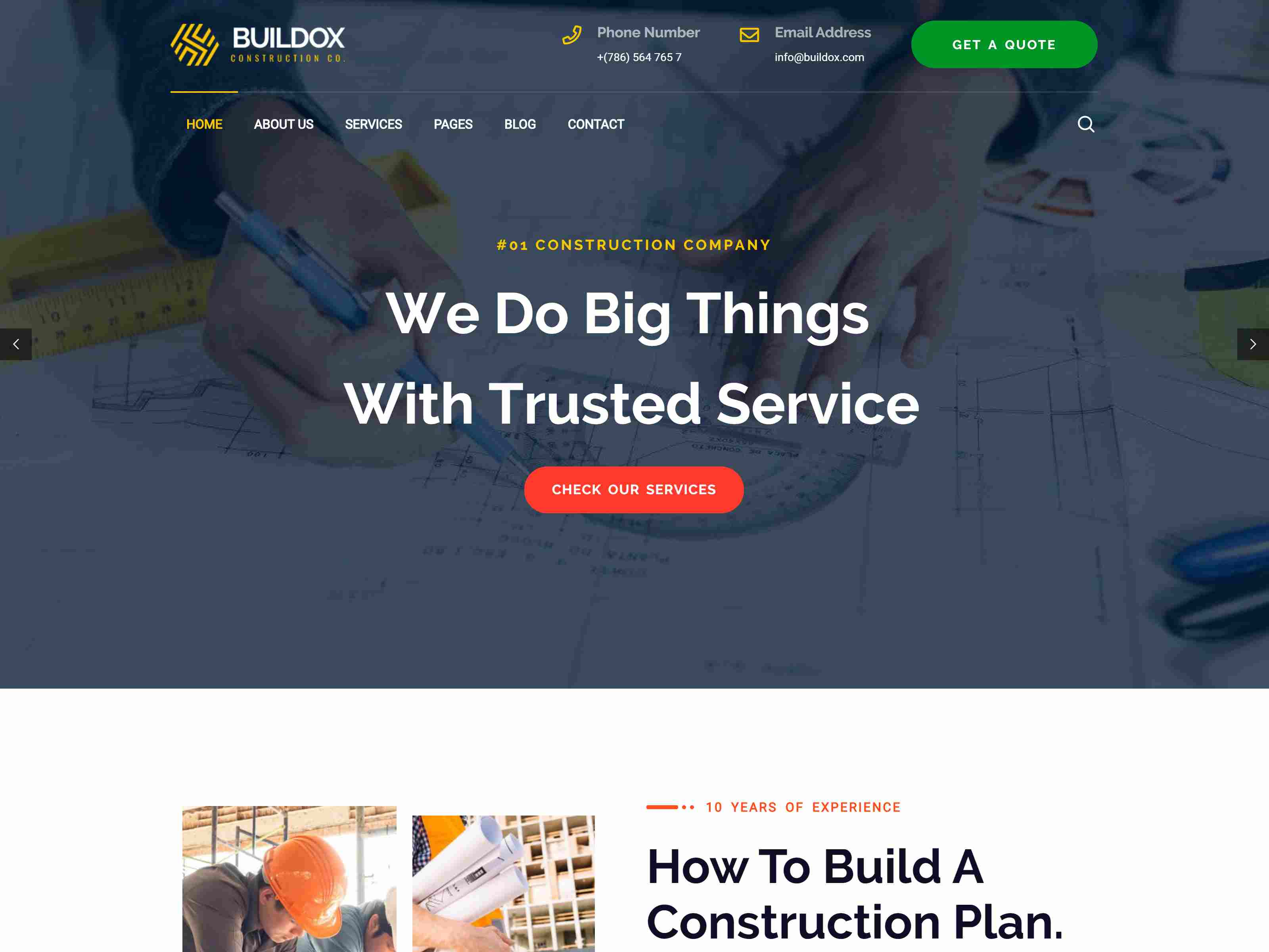 Best Premium Construction WordPress Themes