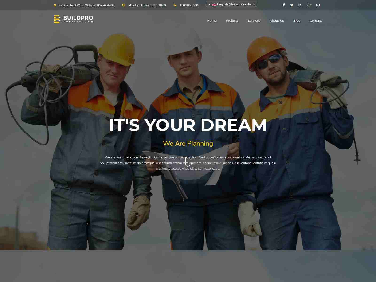 BuildPro - Construction and Building Joomla Template joomla construction template