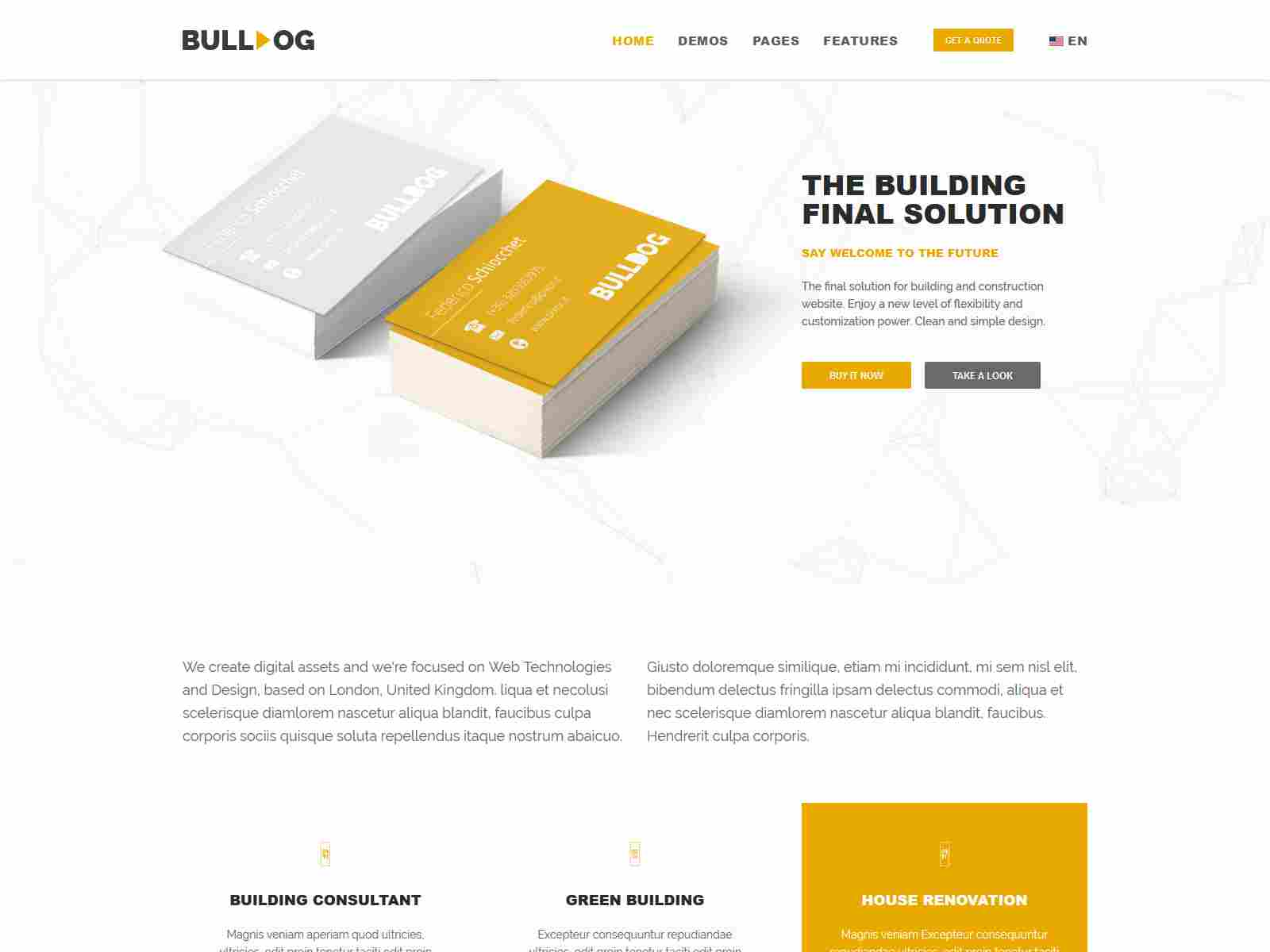 Bulldog - Construction And Architect Building Multipurpose Drupal 8.8 Theme  Architecture Drupal Themes