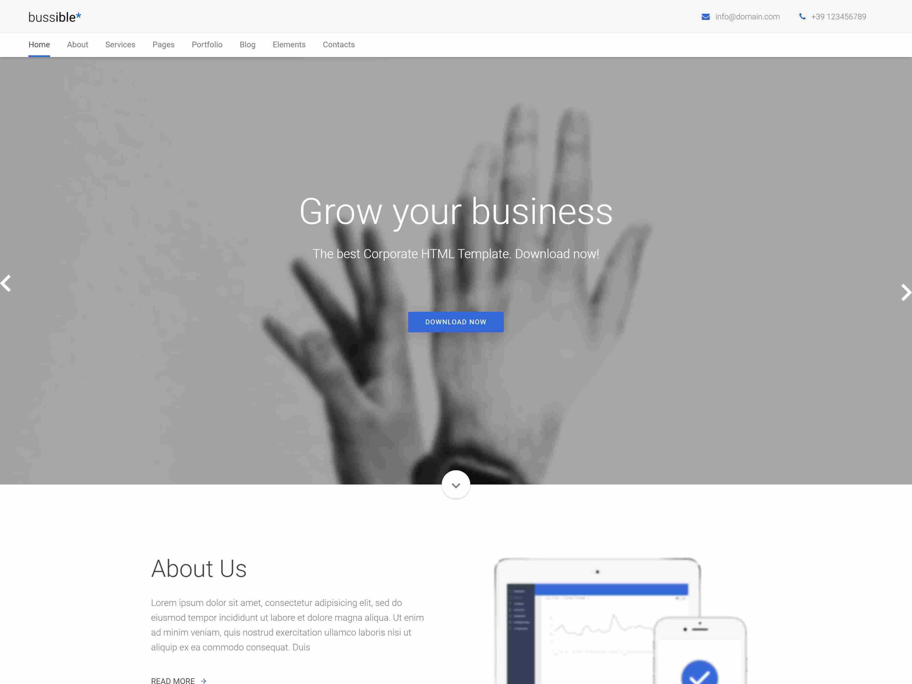 Bussible - Soft Material Business, Finance, Startup Joomla Template