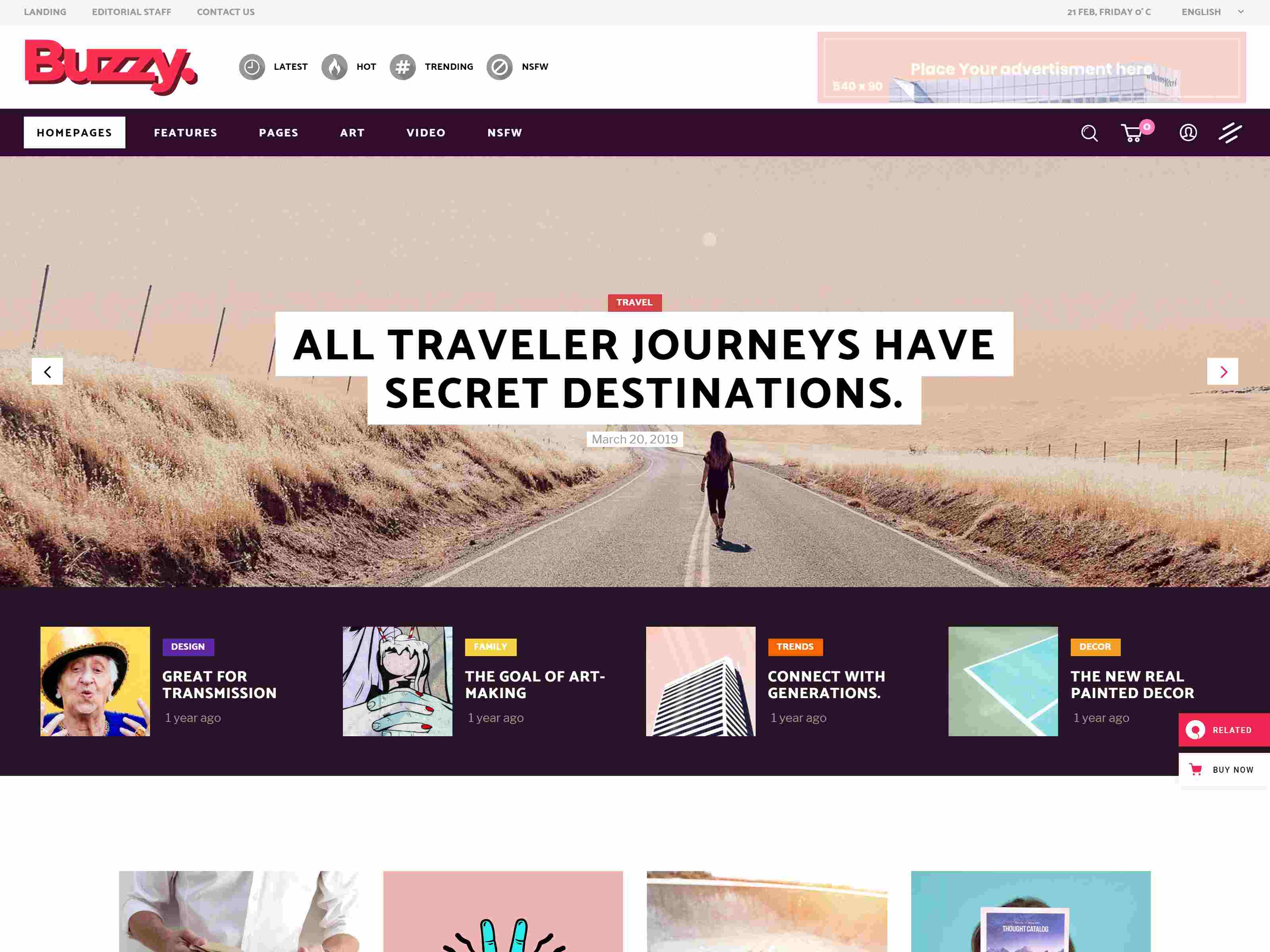 Buzzy - Creative Magazine Theme wordpress news themes