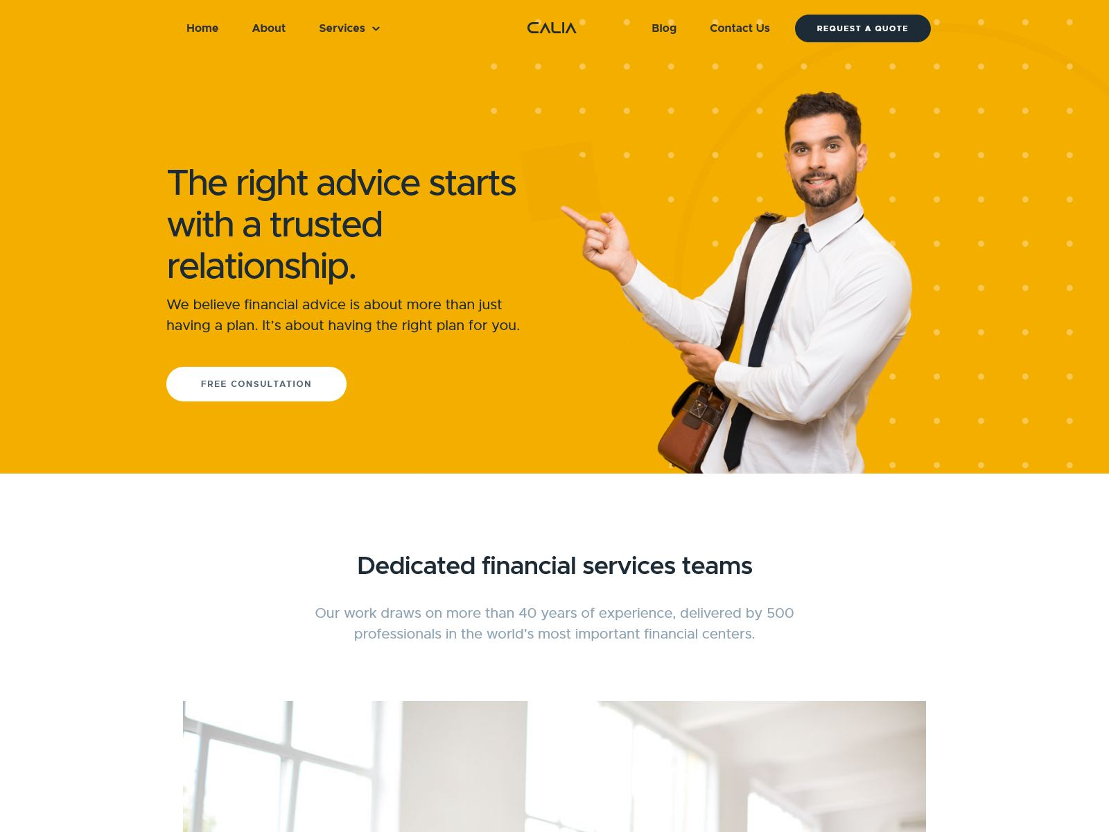 Calia - Business and Management WordPress Theme
