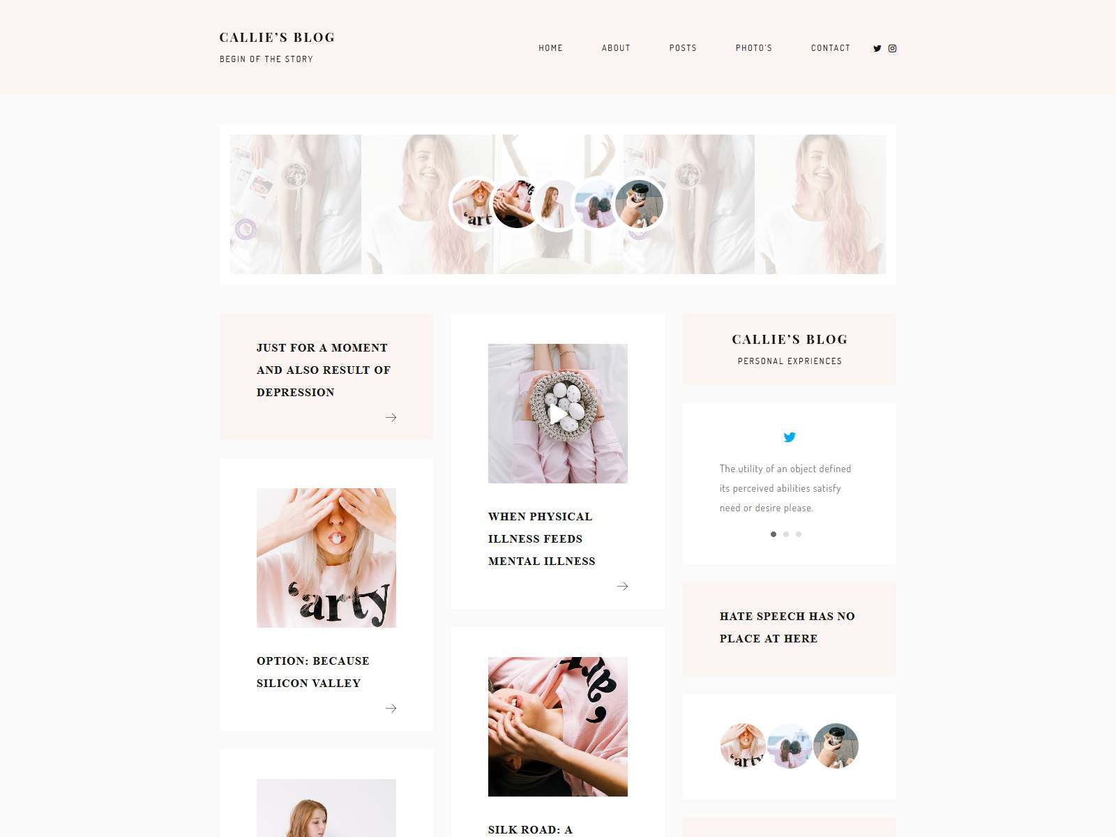 Callie - A Story WordPress Blog Theme
